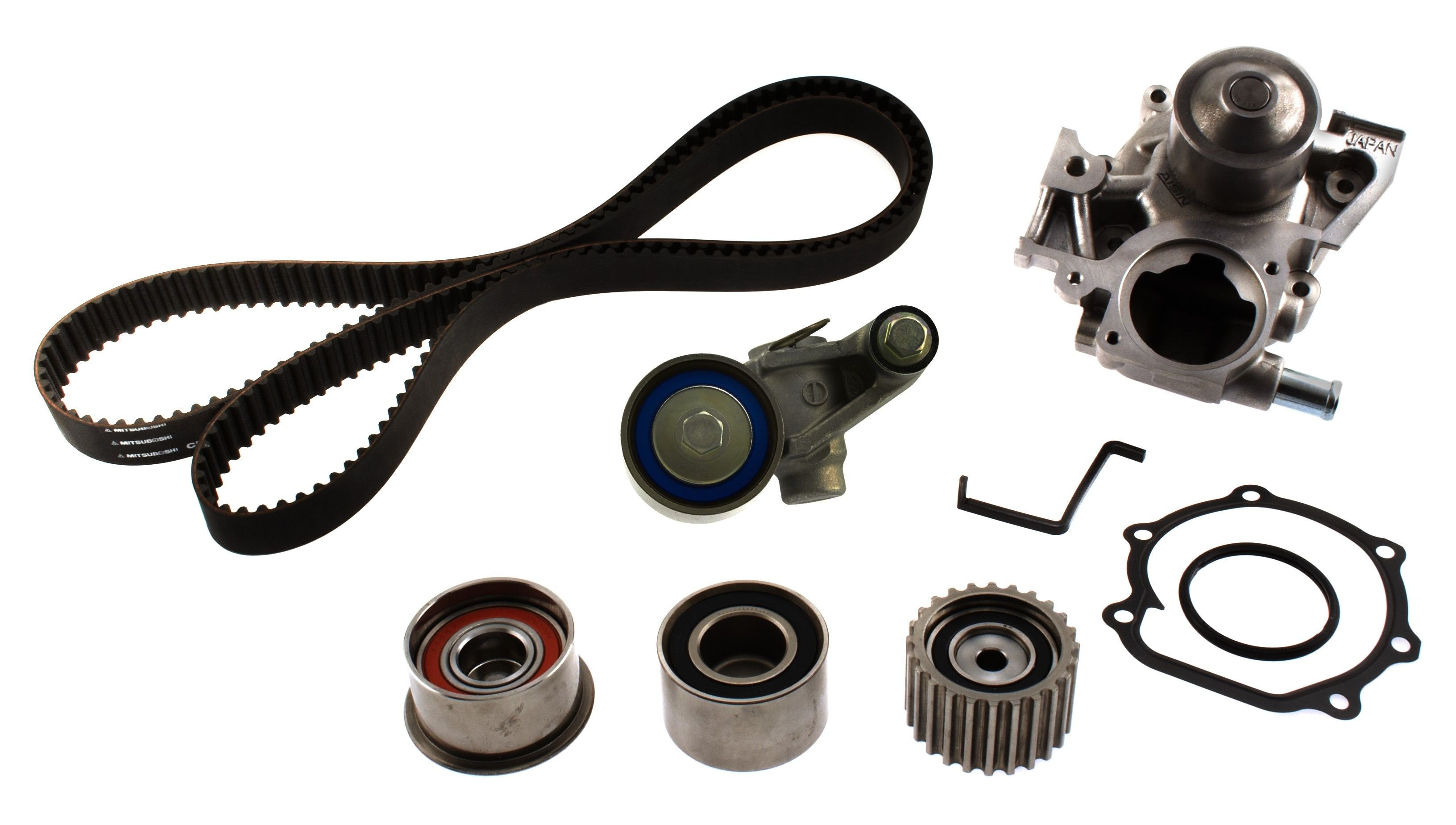 Subaru Legacy Engine Timing Belt Kit With Water Pump Replacement For 2010 4 Cyl 25l Aisin Tkf 006