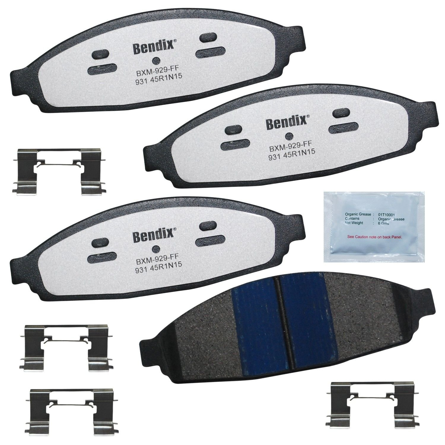 Lincoln Town Car Disc Brake Pad Replacement Akebono Bendix Bosch Sleep 2003 Front Mkd931fm Abutment Kit Included