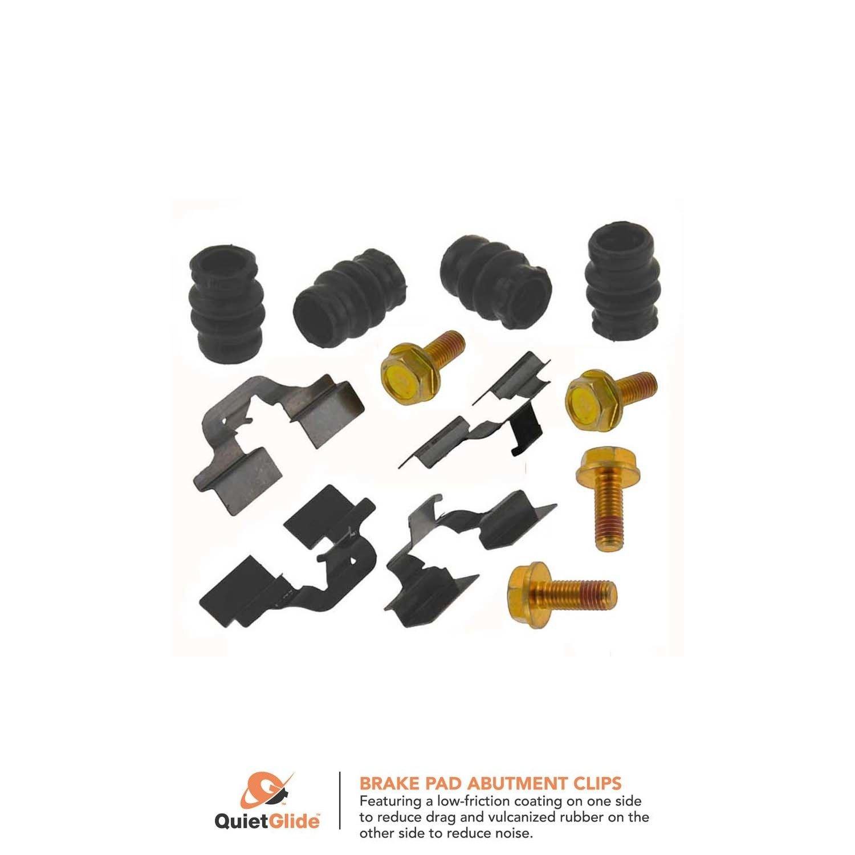 Disc Brake Hardware Kit Front,Rear Carlson 13119