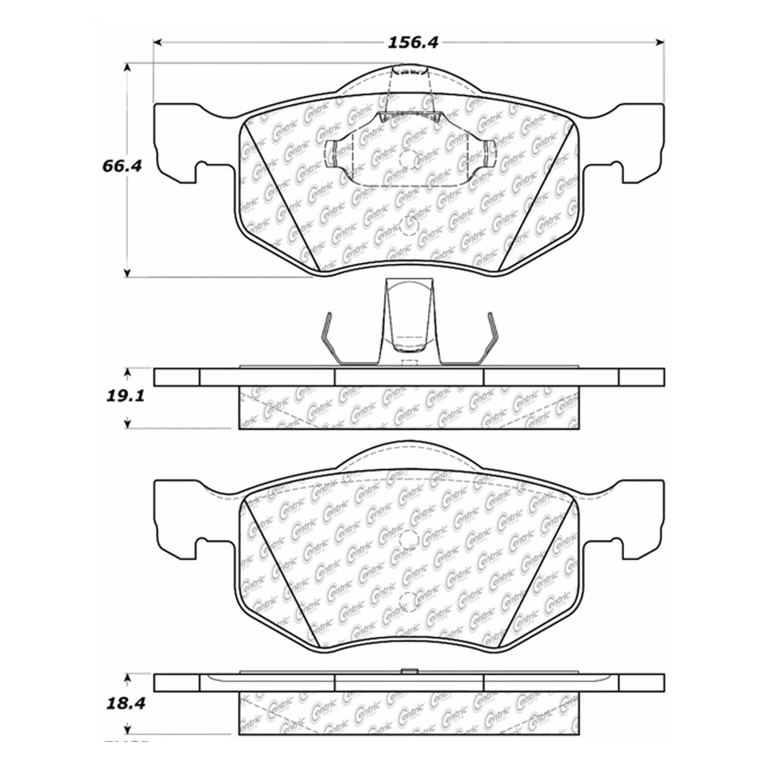 Ford Escape Disc Brake Pad Replacement Akebono Beck Arnley Bendix 2001 Transmission Diagram Front Centric 10208430