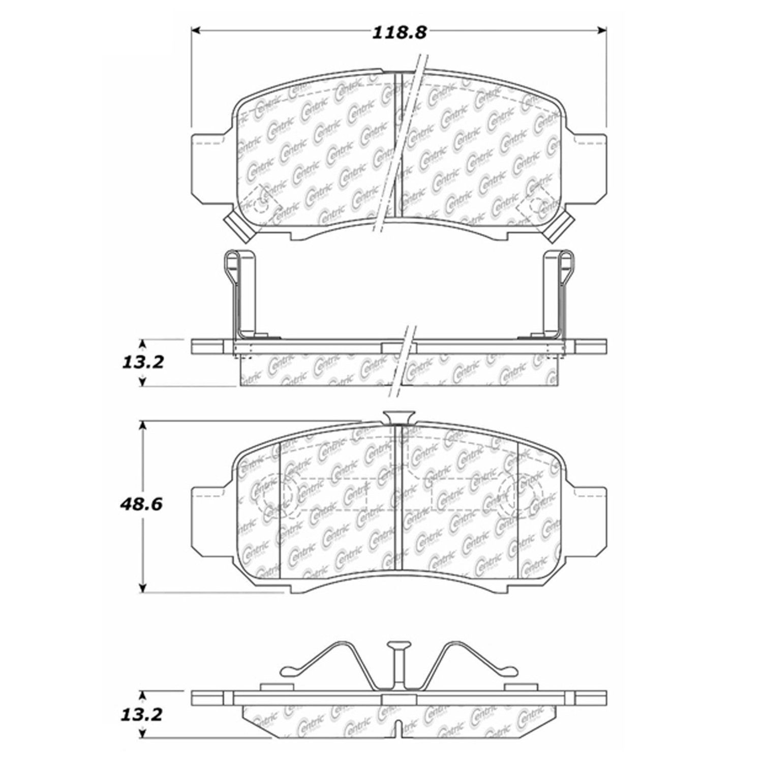 Honda Insight Disc Brake Pad Replacement Advics Akebono Beck 2011 Engine Diagram 2000 Front Centric 10208320