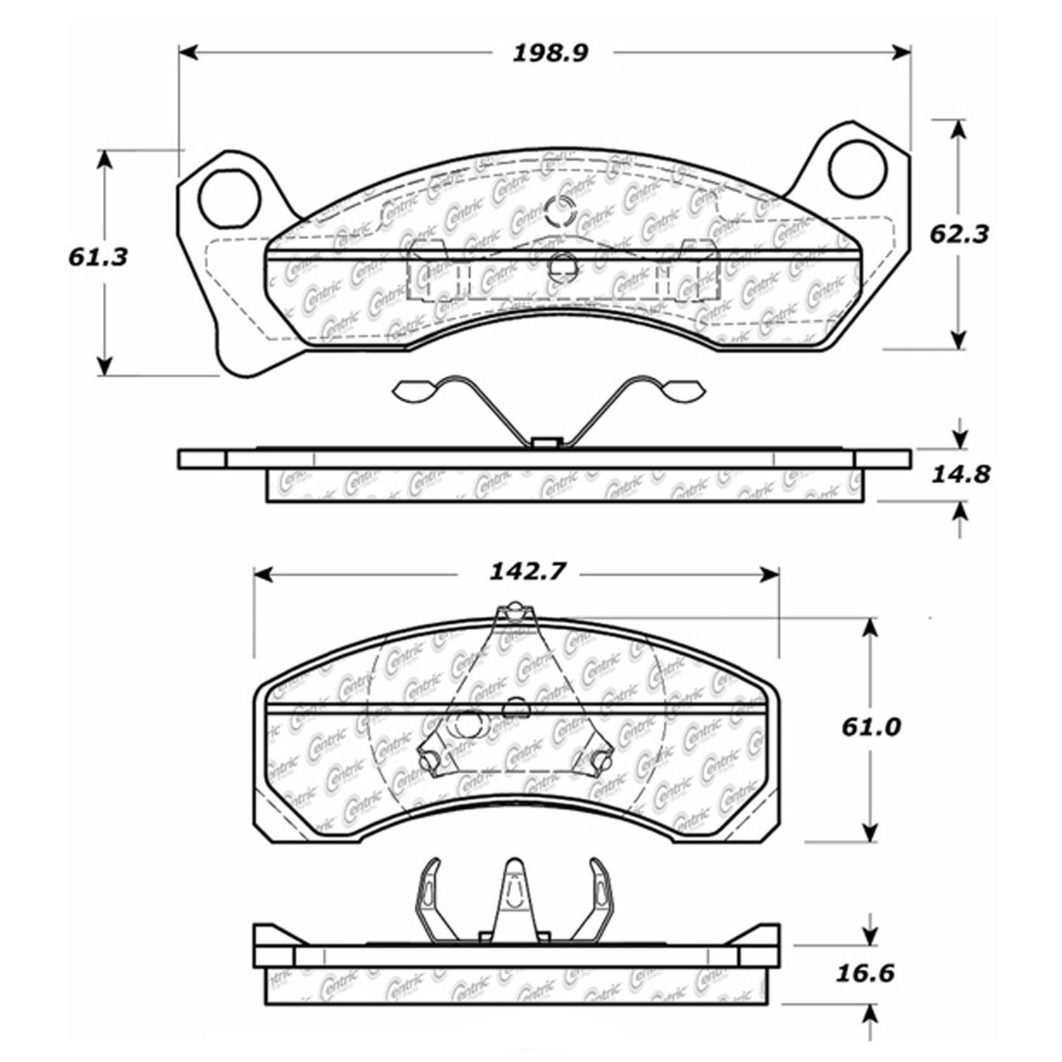 Mercury Grand Marquis Disc Brake Pad Replacement Akebono Bendix 4 6l Engine Diagram 1979 Front Centric 10204990