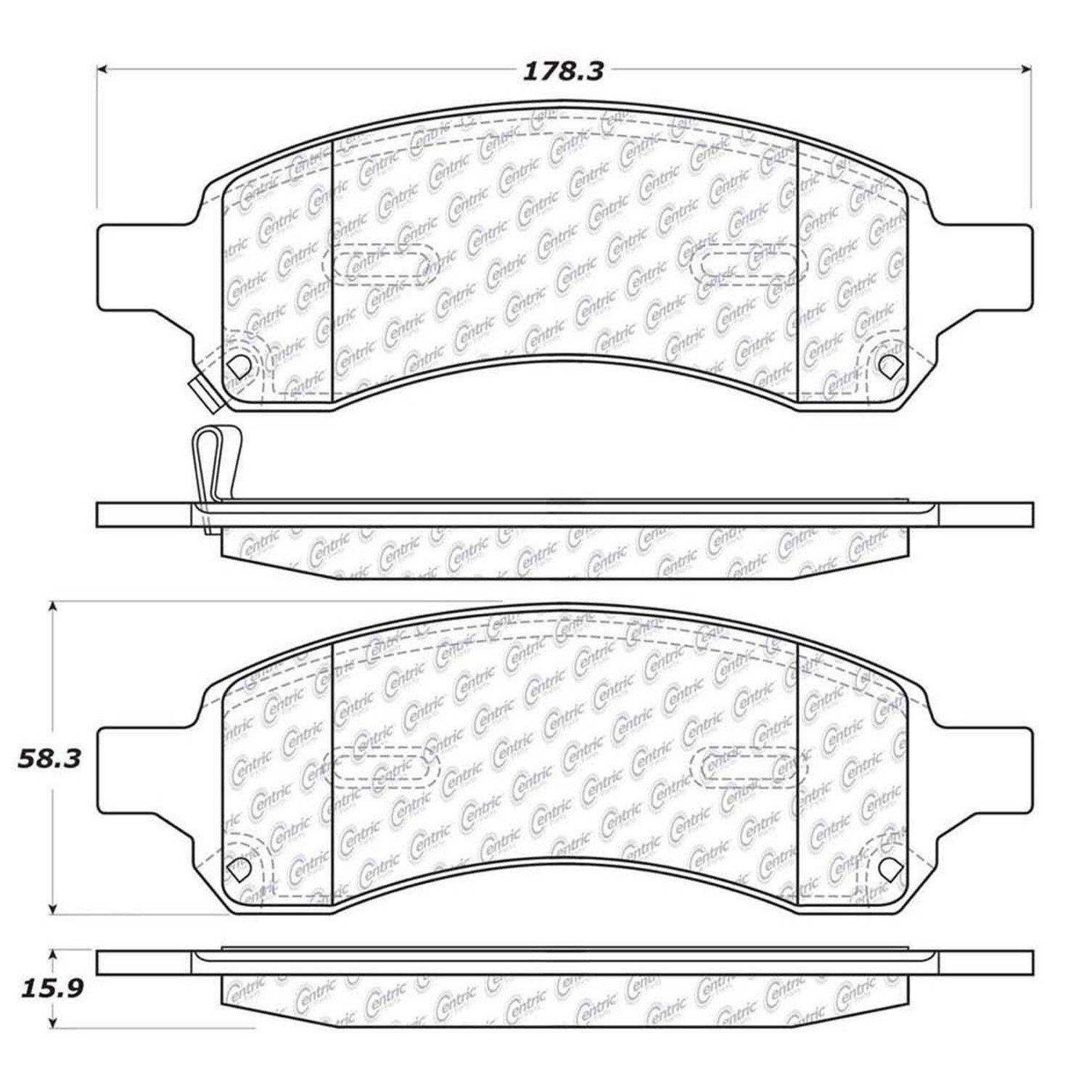 Chevrolet Traverse Disc Brake Pad Replacement Akebono Bendix Diagram 2009 Front Centric 10211691
