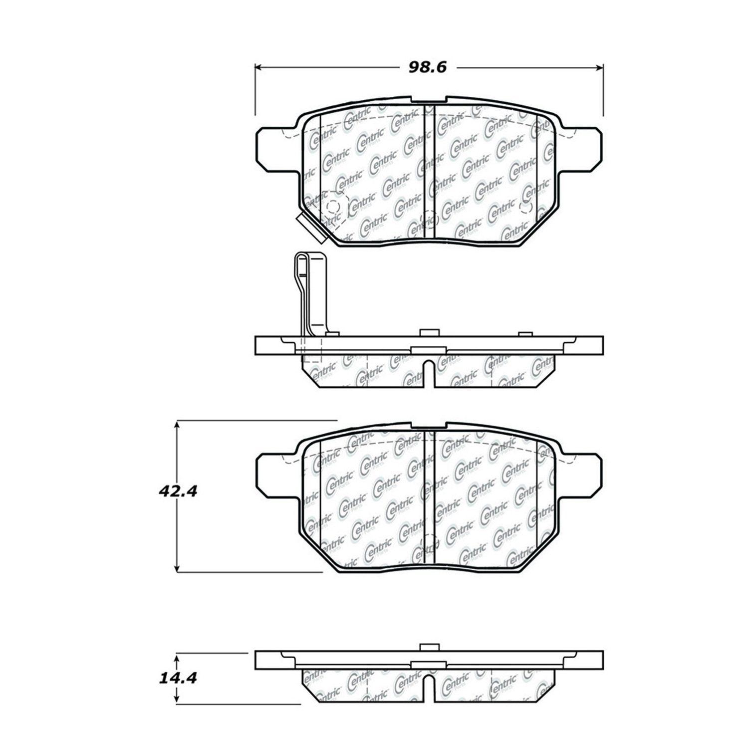 Pontiac Vibe Disc Brake Pad Replacement Advics Akebono Beck 2009 Engine Diagram Rear 4 Cyl 18l Centric 10213540