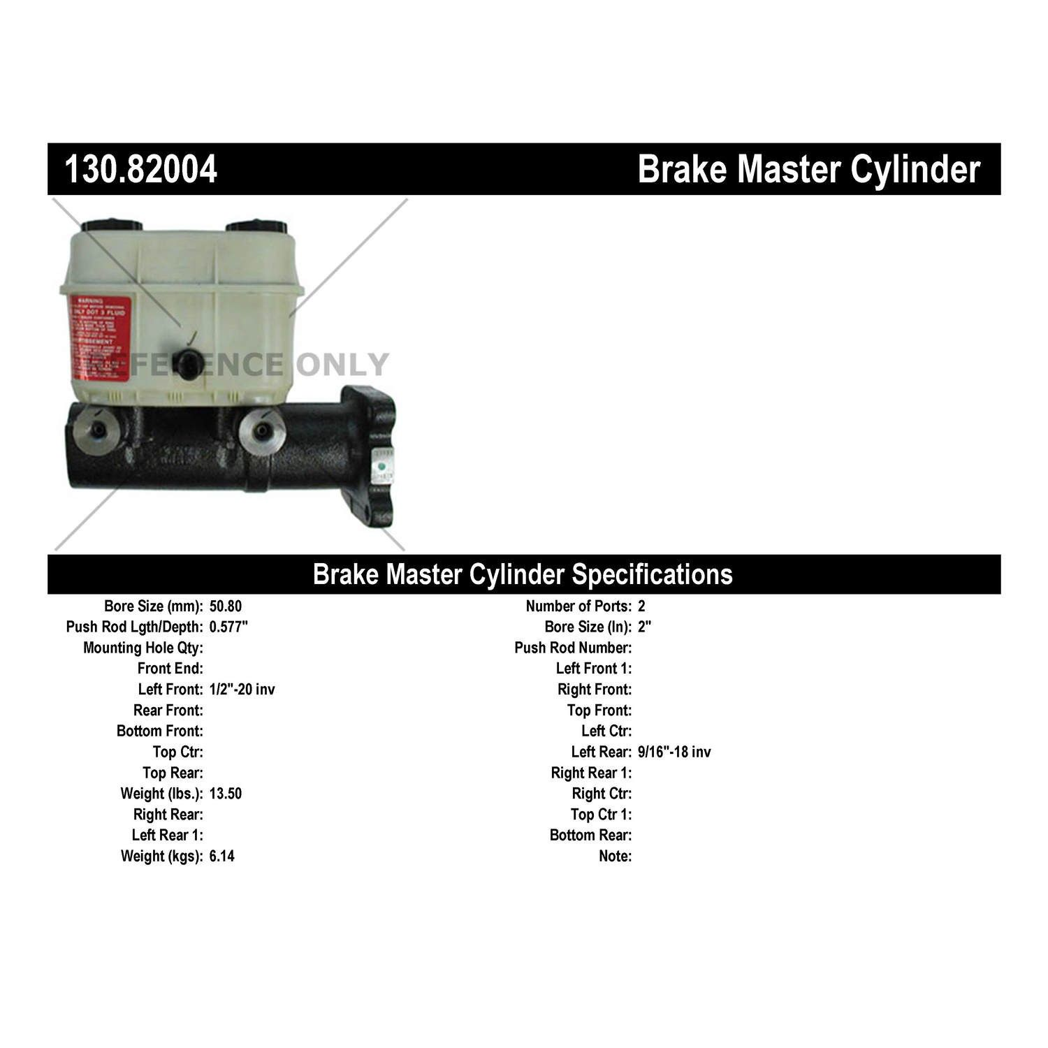 Chevrolet T6500 Brake Master Cylinder Replacement (Cardone