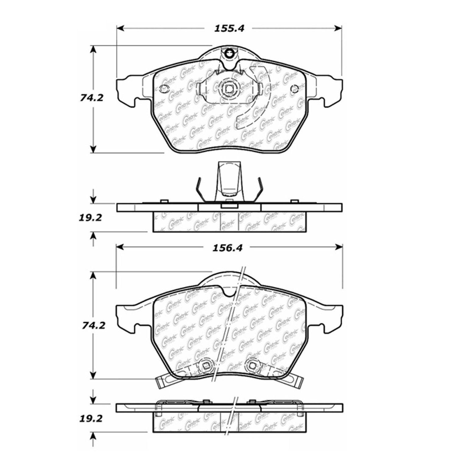 Saab 9 5 Disc Brake Pad Replacement Akebono Beck Arnley Bendix Brakes Diagram 1999 Front Centric 10208190