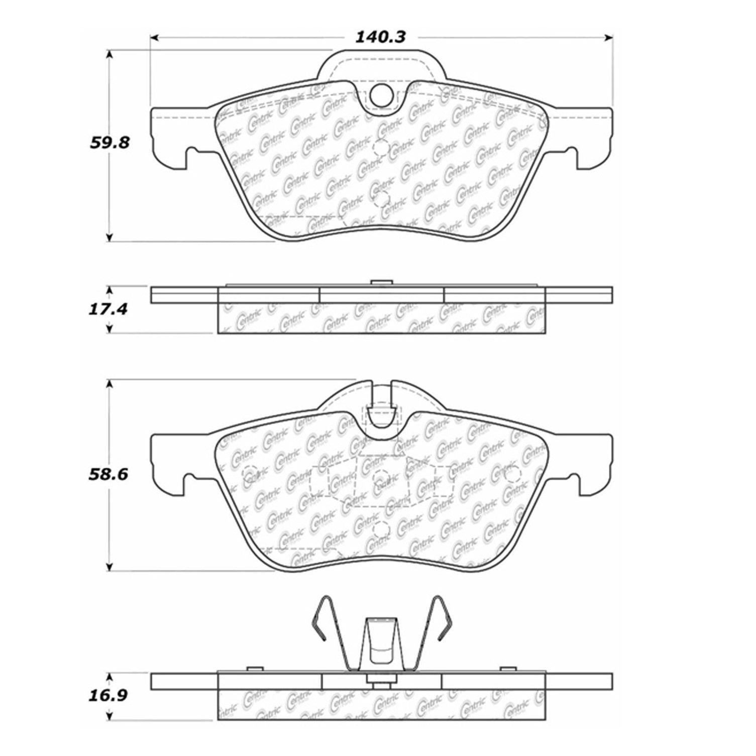 Mini Cooper Disc Brake Pad Replacement Akebono Beck Arnley Bendix Brakes Diagram 2002 Front Centric 10209390