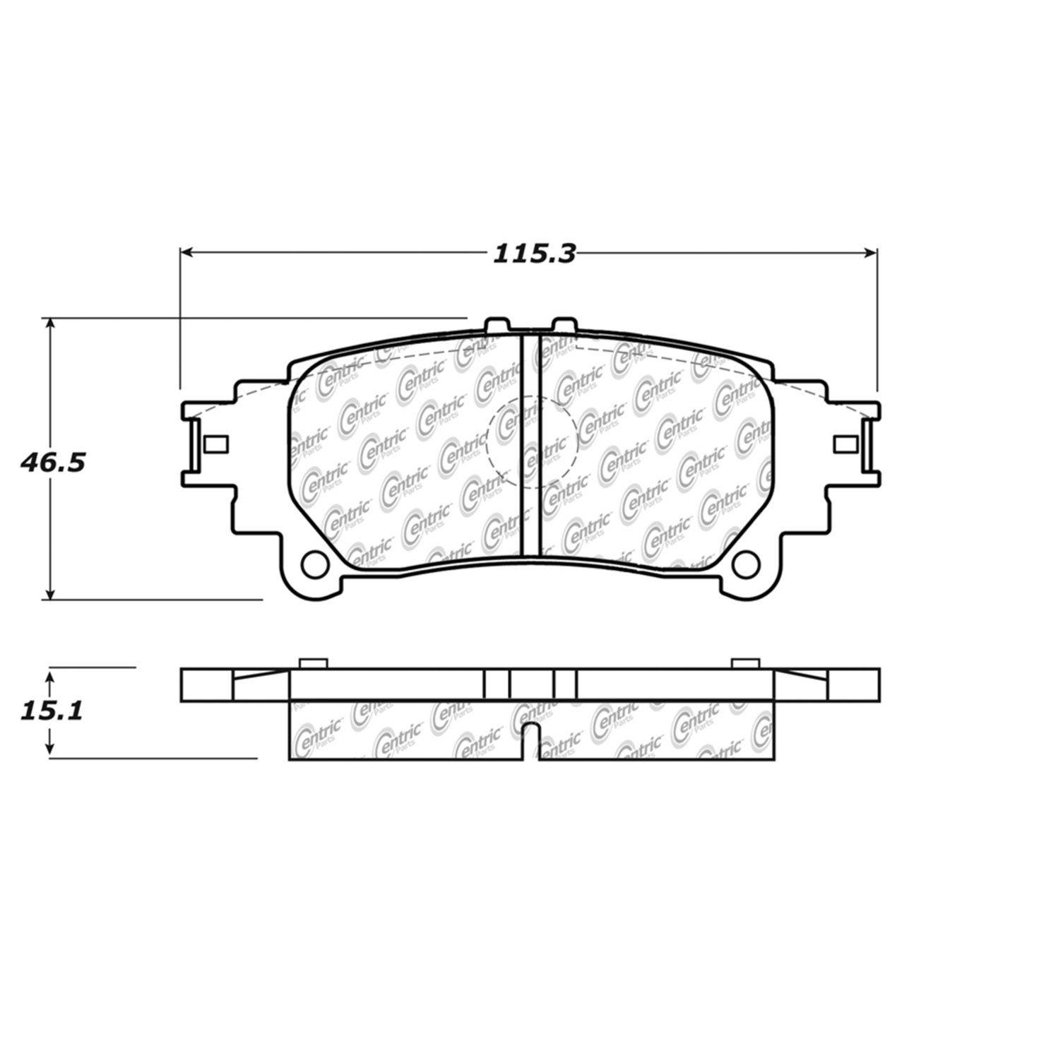 Toyota Prius V Disc Brake Pad Replacement Advics Akebono Beck Parts Diagram 2012 Rear Centric 10213910