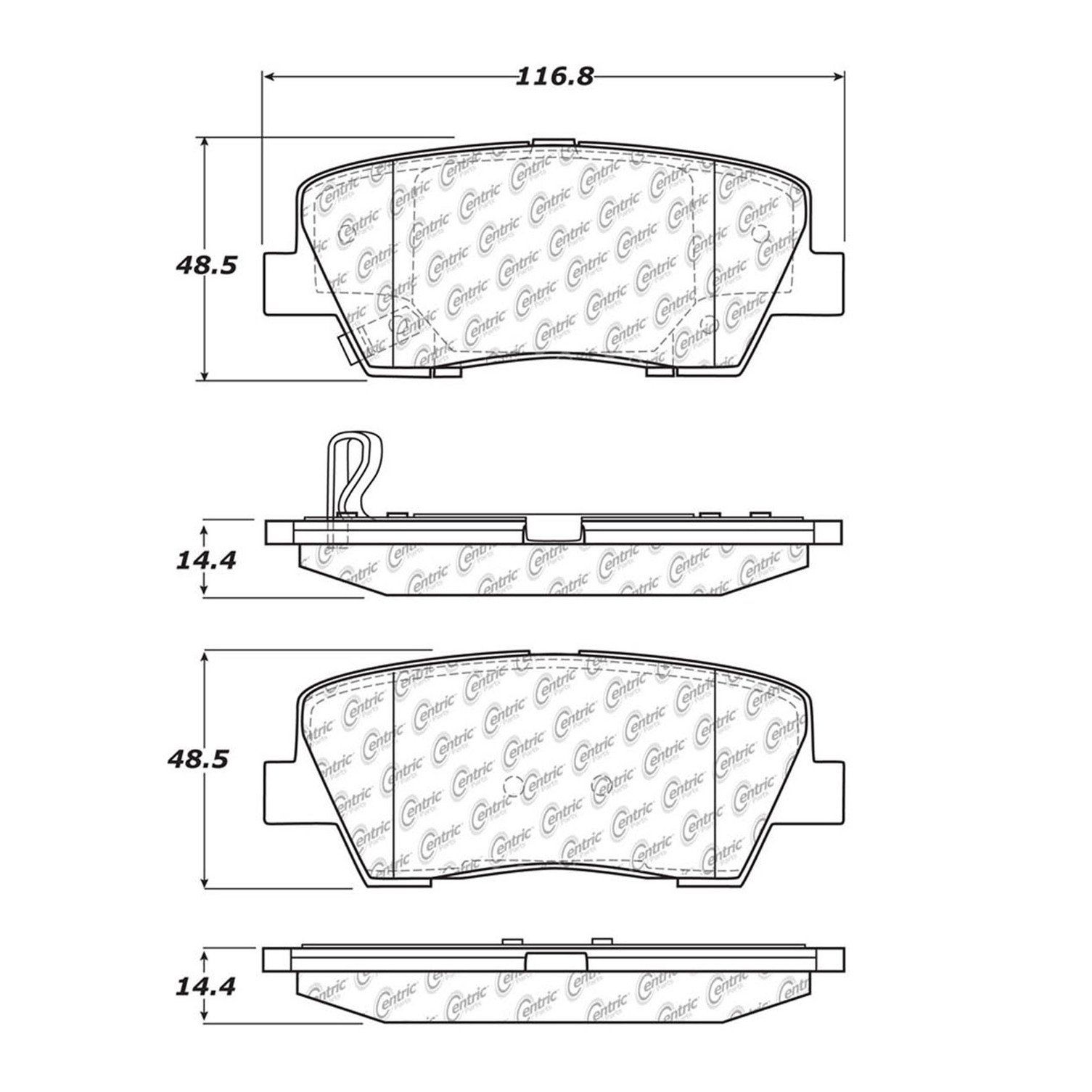 Hyundai Genesis Disc Brake Pad Replacement Akebono Beck Arnley 2011 Engine Diagram 2009 Rear Centric 10212840