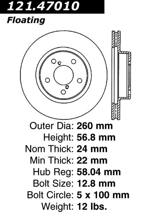 Subaru Legacy Disc Brake Rotor Replacement Beck Arnley Bosch 1995 Engine Diagram Front Centric 12147010