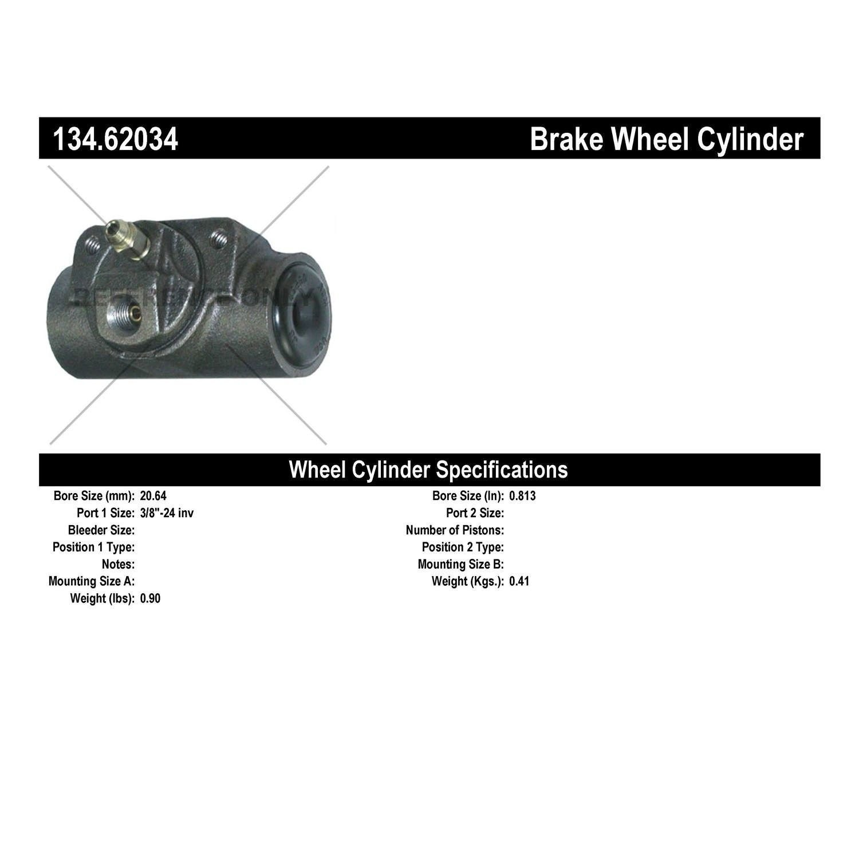 Centric Parts 134.62038 Drum Brake Wheel Cylinder