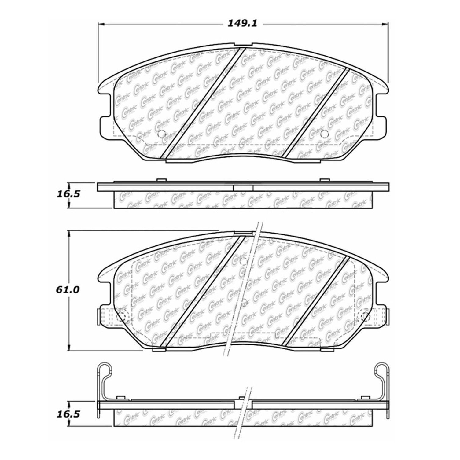 Hyundai Xg350 Disc Brake Pad Replacement Akebono Auto 7 Beck Xg300 Wiring Diagram 2004 Front Centric 10210130