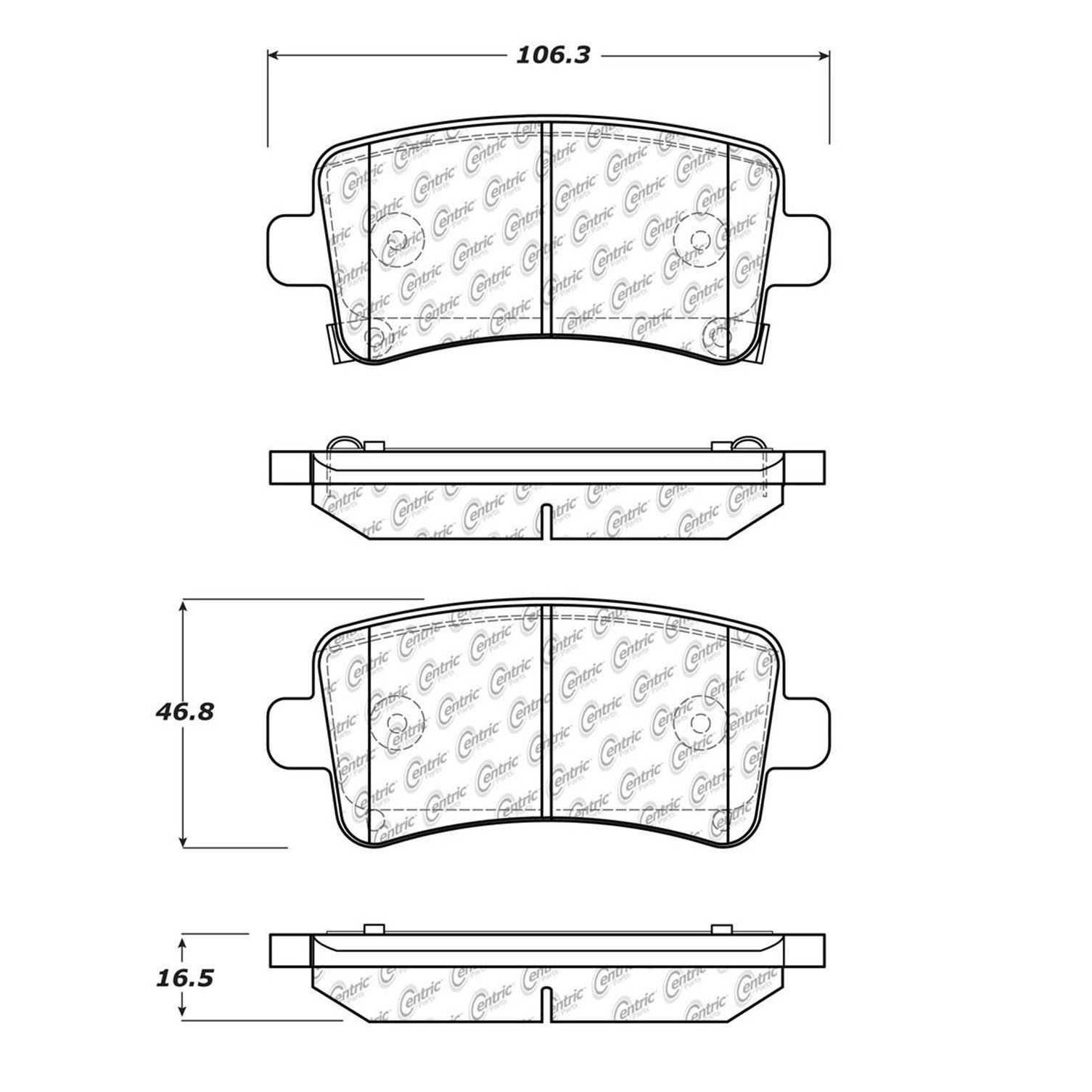 Saab 9 5 Disc Brake Pad Replacement Akebono Beck Arnley Bendix Brakes Diagram 2011 Rear Centric 10214300 321mm Front Exc Noise Dust Perf Pkg