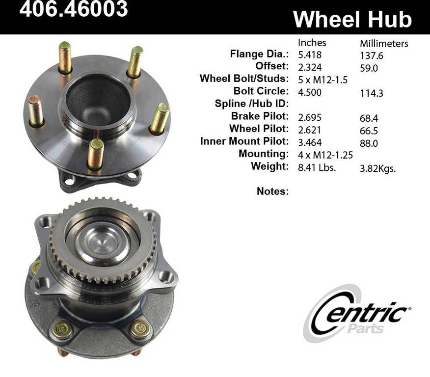 Mitsubishi Endeavor Wheel Bearing and Hub Assembly