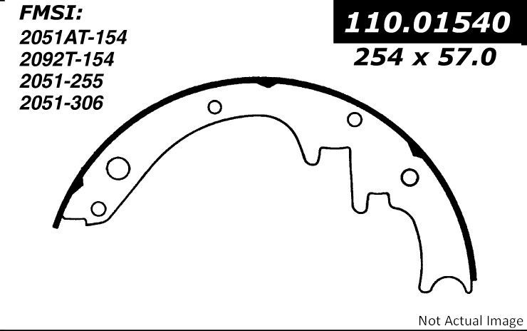 Ford Falcon Drum Brake Shoe Replacement Bendix Centric Powerstop
