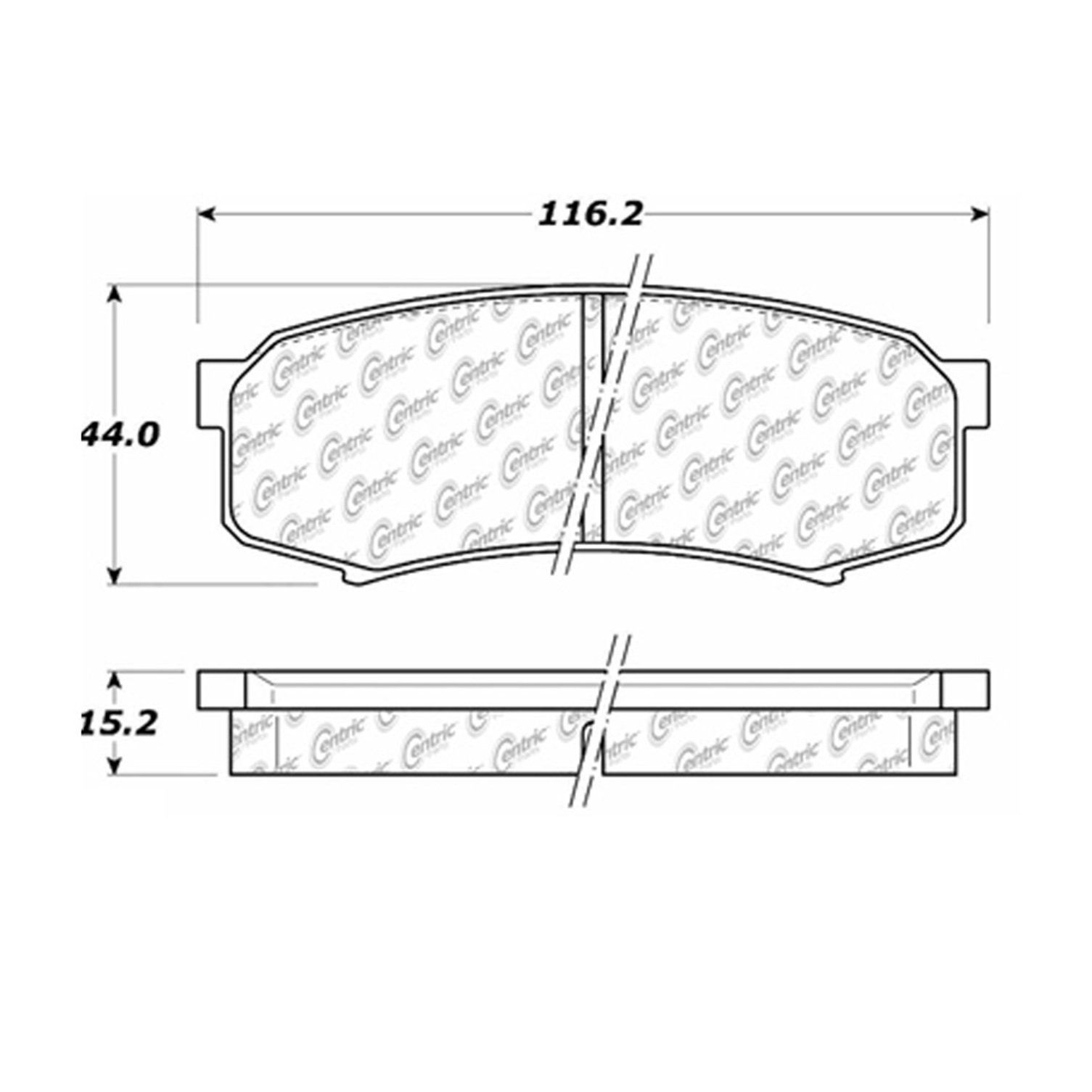 Toyota Fj Cruiser Disc Brake Pad Replacement Advics Akebono Beck 2007 Wiring Harness Diagram Rear Centric 10206060