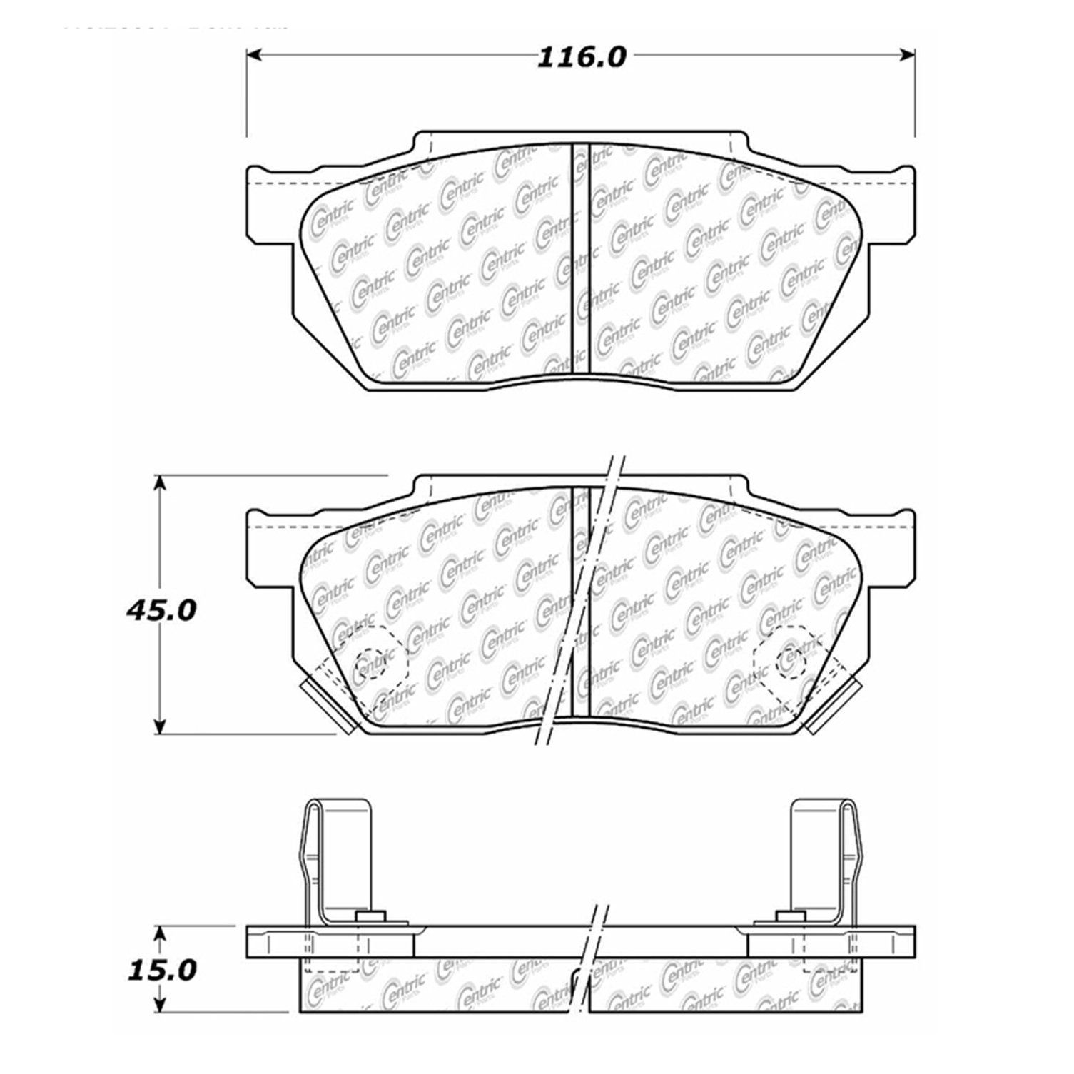 Honda Insight Disc Brake Pad Replacement Advics Akebono Beck 2011 Engine Diagram 2001 Front Centric 10202560