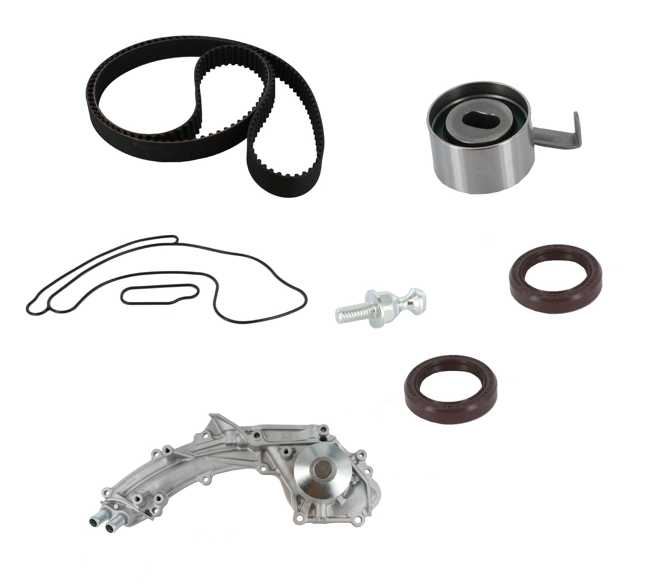 1995 Acura Legend Engine Timing Belt Kit with Water Pump 6 Cyl 3.2L (CRP  PP193LK1) Pro Series Plus ContiTech Timing Kit w/2-Outlet Tubes  Interference Eng. .
