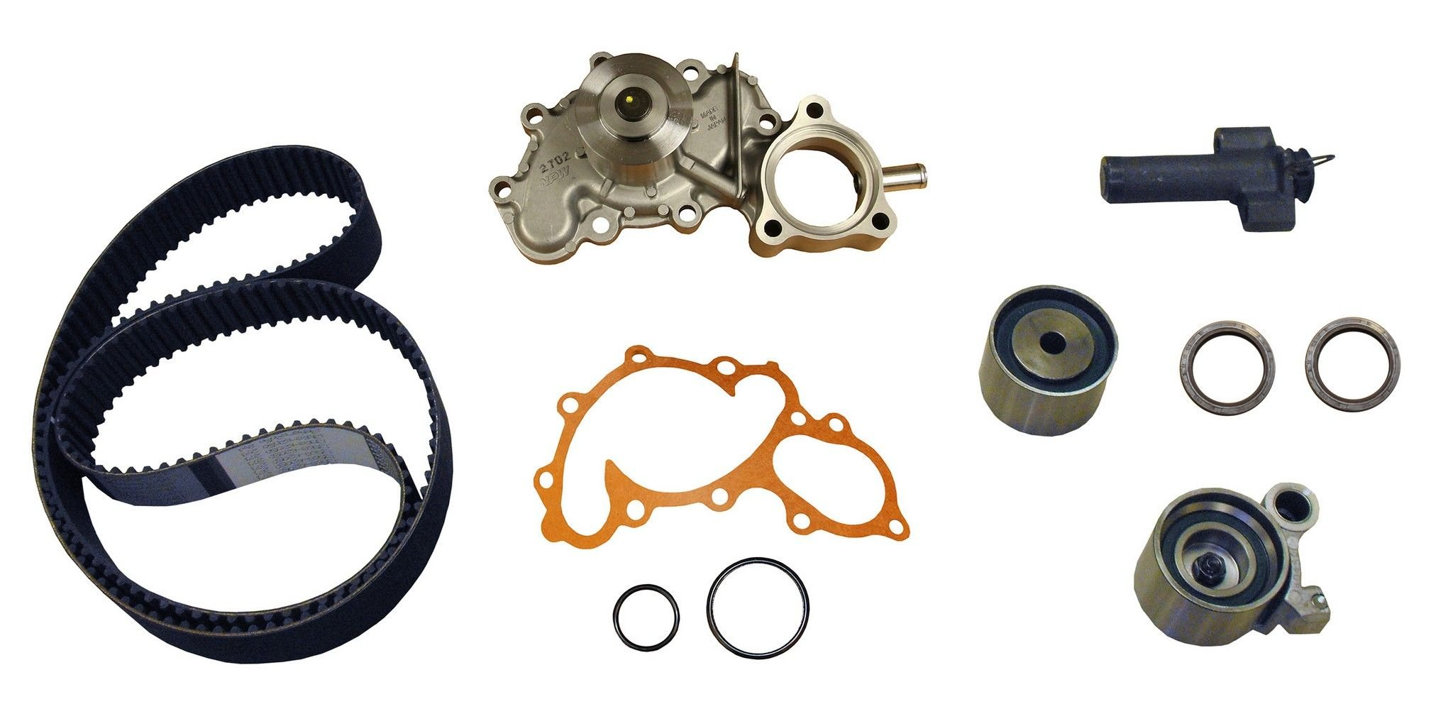 1992 Toyota 4runner Timing Belt Kit Engine With Water Pump Replacement 2002 6 Cyl 34l Crp Pp271lk1 Pro Series Plus Contitech W Wp Bypass Tube