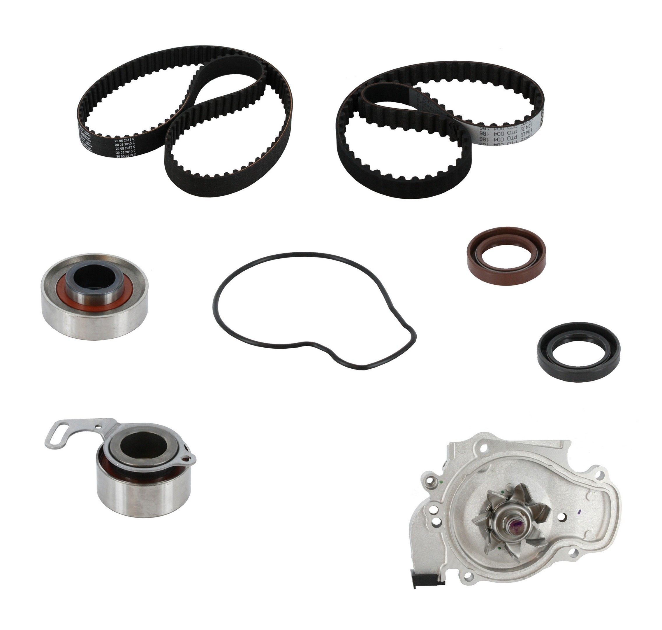 Honda Prelude Engine Timing Belt Kit With Water Pump Replacement 1992 Balancer 1996 4 Cyl 22l Crp Pp186 187lk1 Pro Series Plus Contitech Interference Eng