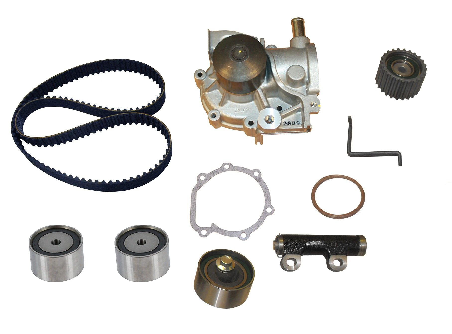 Subaru Legacy Engine Timing Belt Kit With Water Pump Replacement B4 Diagram 1993 4 Cyl 22l Crp Tb172lk1 Pro Series Contitech Includes Hyd Tensioner