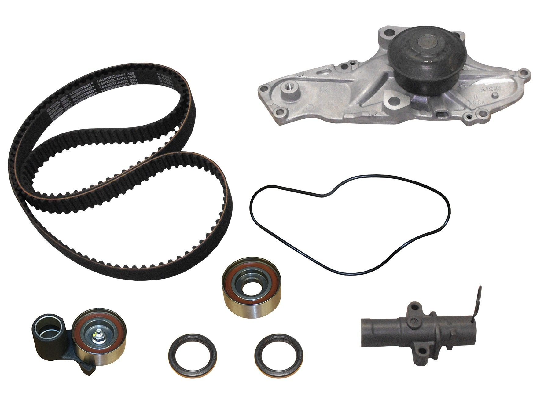 acura mdx engine timing belt kit with water pump replacement airtex