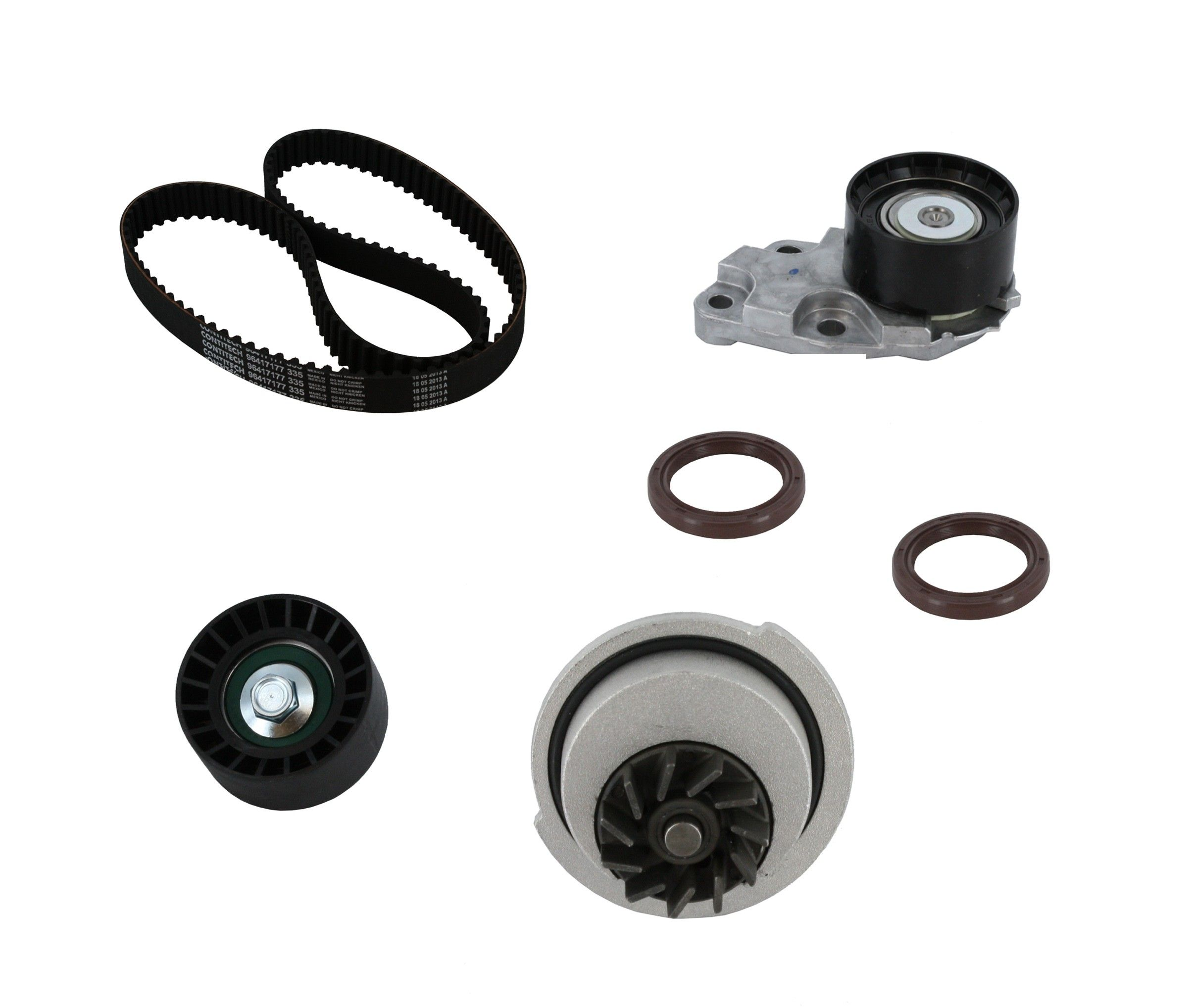 CRP Automotive TB338LK1 Pro Series Timing Belt Kit with Water Pump ContiTech