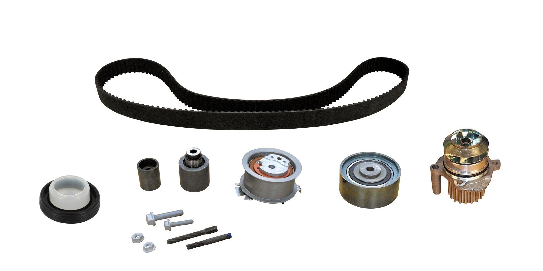 Volkswagen Golf Engine Timing Belt Kit With Water Pump Replacement Dayco Idler 2010 4 Cyl 20l Crp Pp342lk1 Mi Pro Series Plus Contitech From 9 28 09 W Metal Impeller