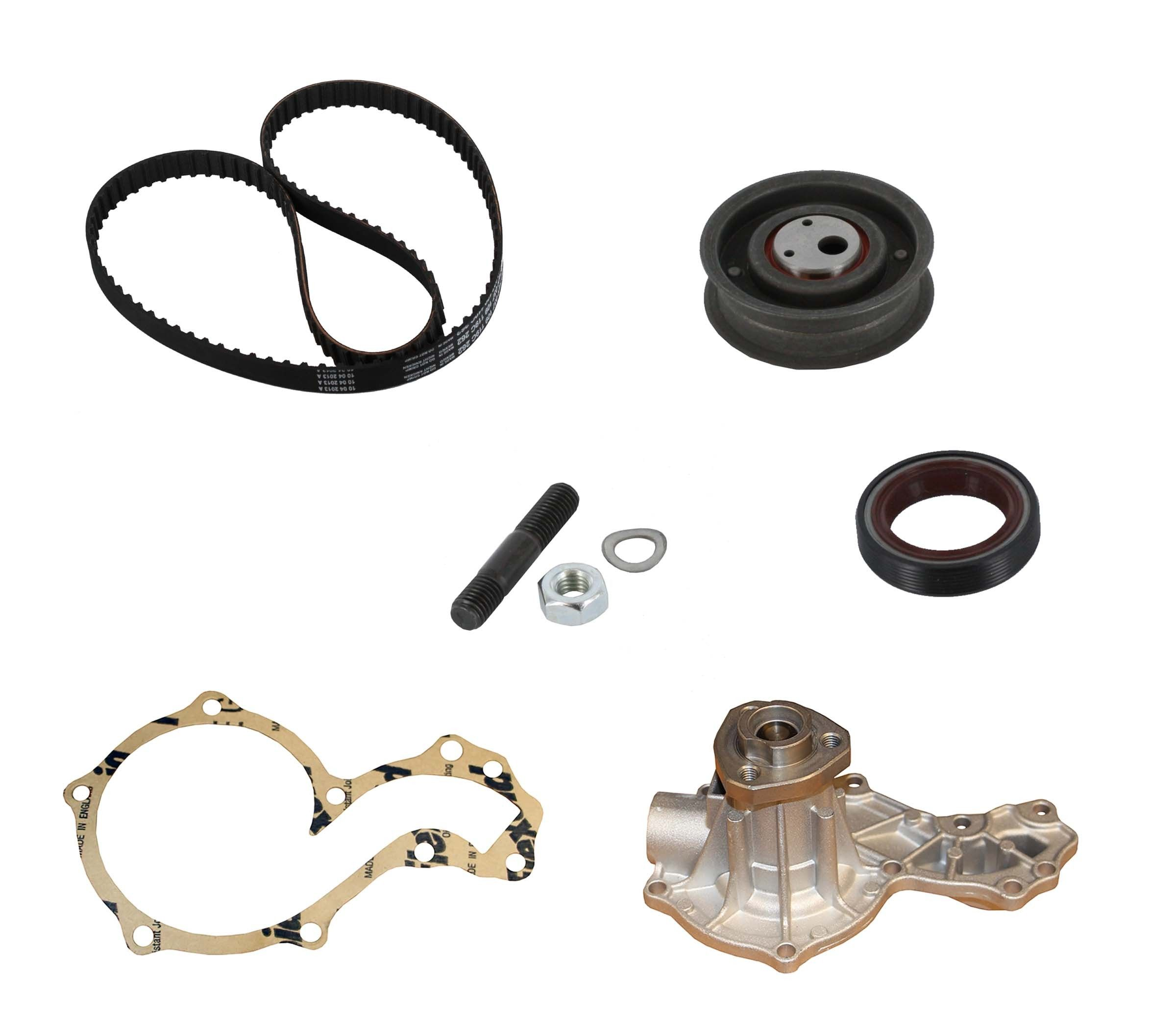 Volkswagen Jetta Engine Timing Belt Kit With Water Pump Replacement Dayco Idler 1996 4 Cyl 20l Crp Pp262lk1 Pro Series Plus Contitech W O Wp Housing Interference Eng