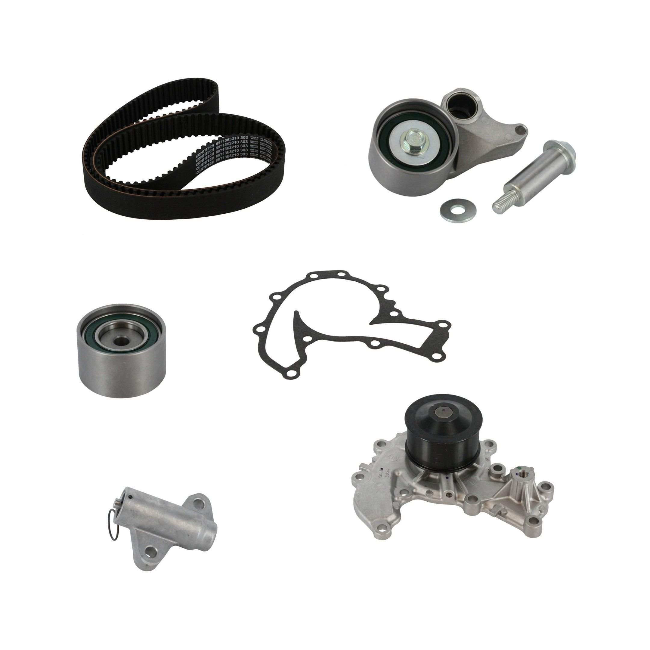 Isuzu Amigo Engine Timing Belt Kit With Water Pump Replacement 1999 Rodeo 2 2000 6 Cyl 32l Crp Tb303lk1 Pro Series Contitech Interference Eng Includes Hyd