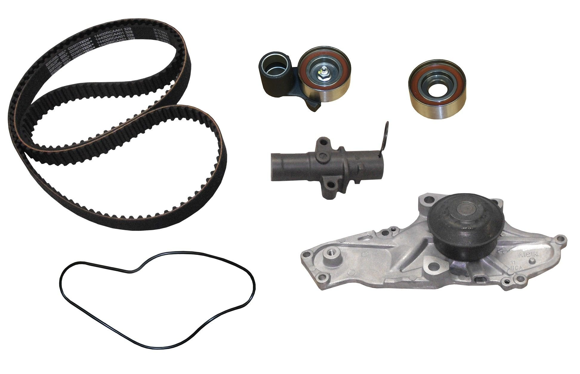 Honda Accord Crosstour Engine Timing Belt Kit With Water Pump Tensioner 2011 6 Cyl 35l Crp Tb329lk2 Pro Series Contitech Replaces Tb329lk1 Interference