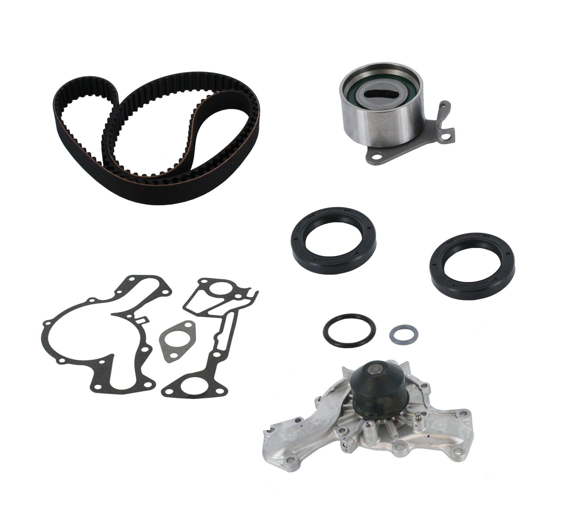 Mitsubishi Galant Engine Timing Belt Kit With Water Pump Replacement Belts 1988 6 Cyl 30l Crp Pp139lk1 Pro Series Plus Contitech Interference Eng