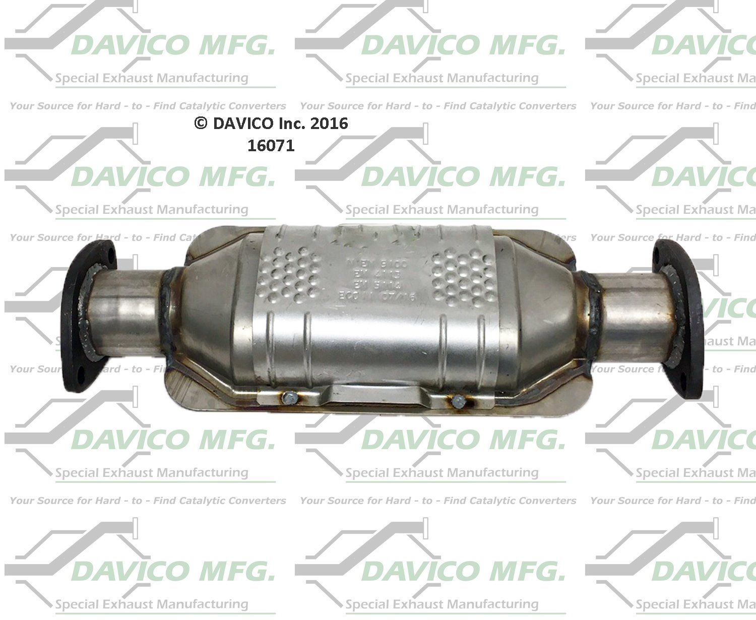 Toyota 4runner Catalytic Converter Replacement Bosal Dec Davico 1992 Exhaust System Rear 6 Cyl 30l Converters 16071 2 1 In Id Flanges 421 Center To Bolt Hole Federal