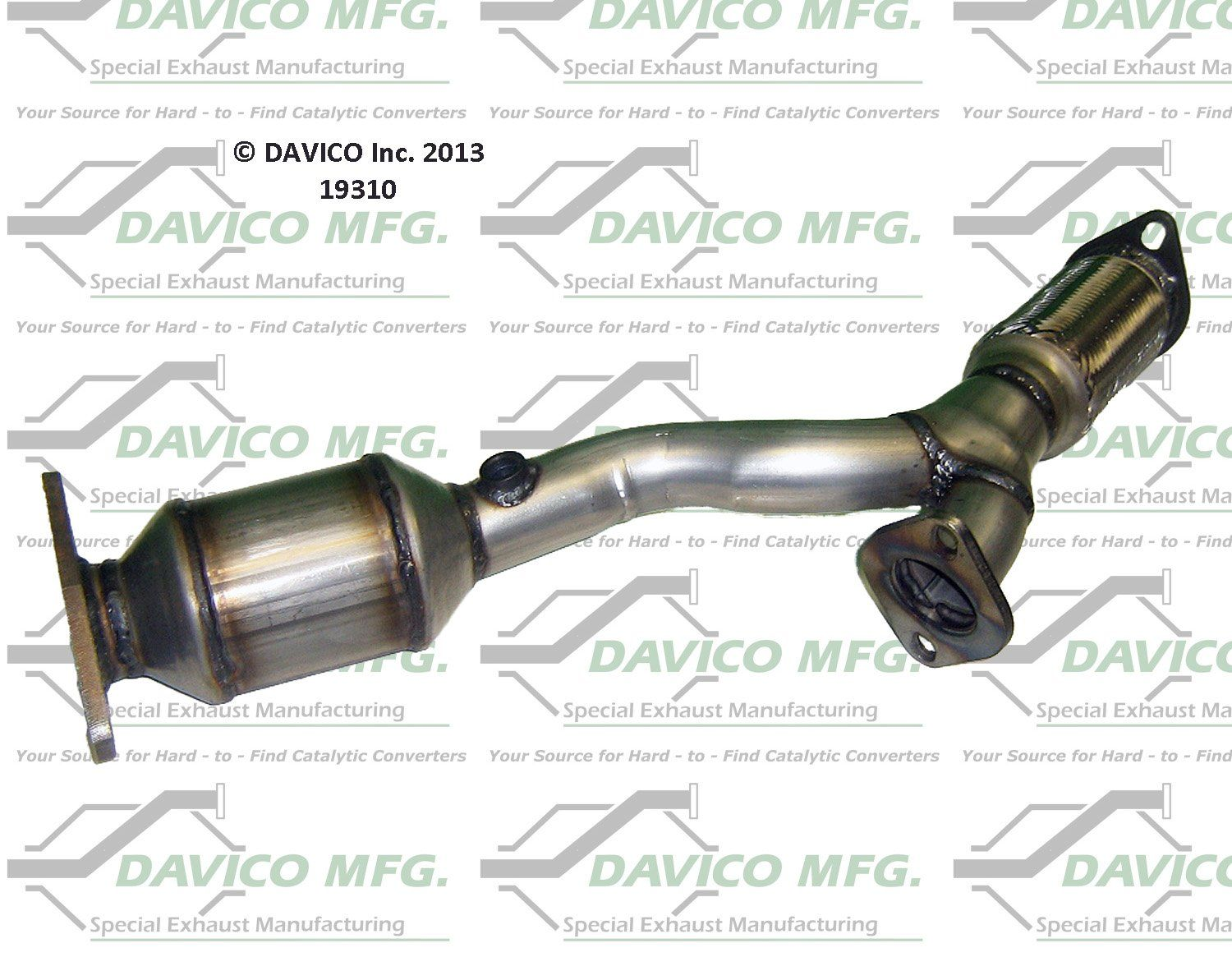 Davico Catalytic Converter Front New for Chevy Chevrolet Malibu Pontiac 19506