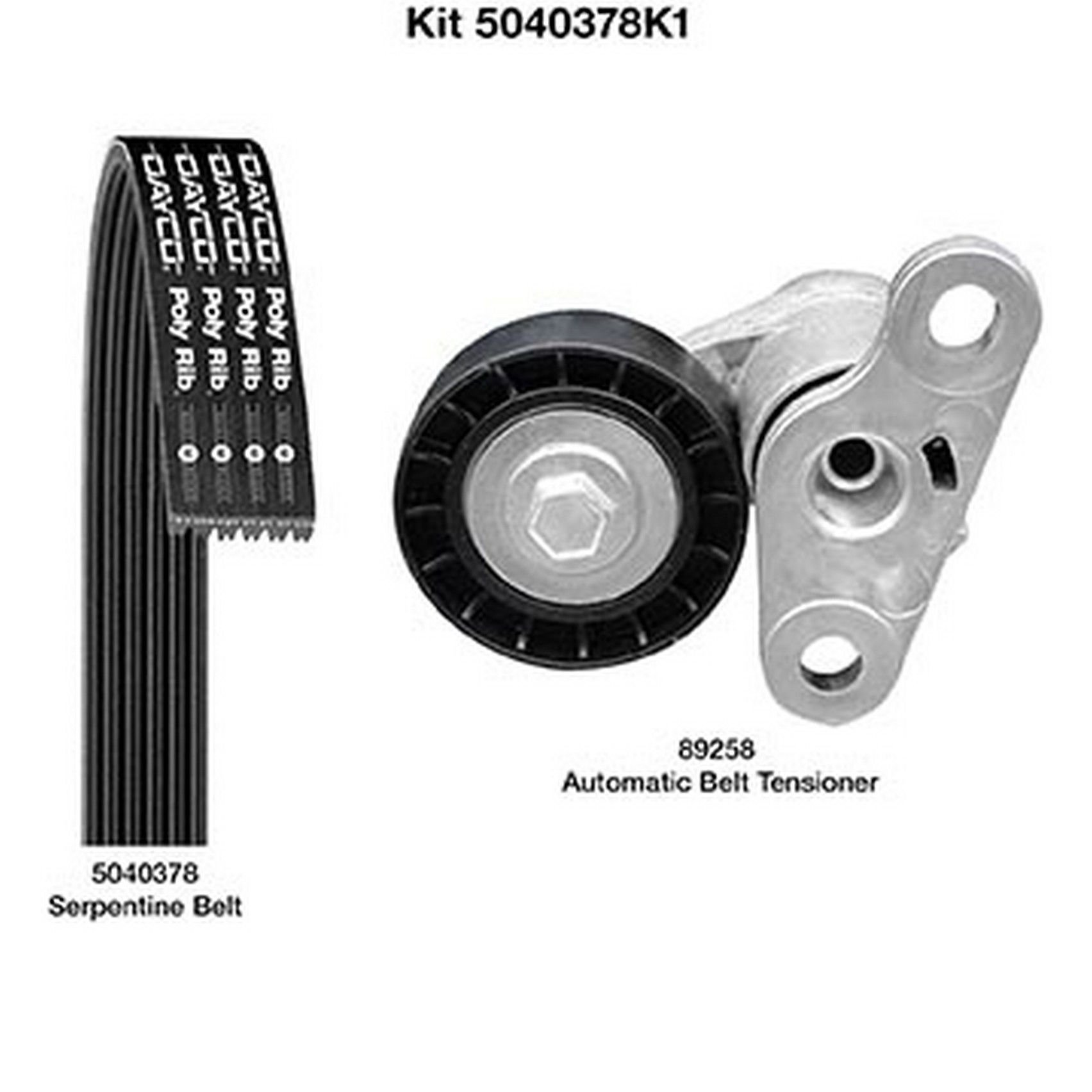 Dayco Serpentine Belt Kit 5060935K1