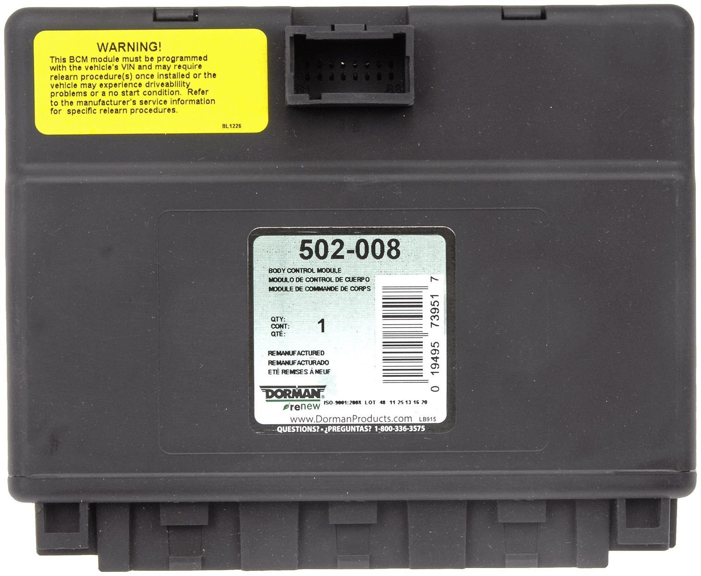 2003 Gmc Sierra 1500 Body Control Module N A Dorman 502 008