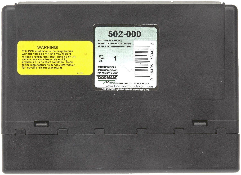 2008 Gmc Sierra 1500 Body Control Module N A Dorman 502 000