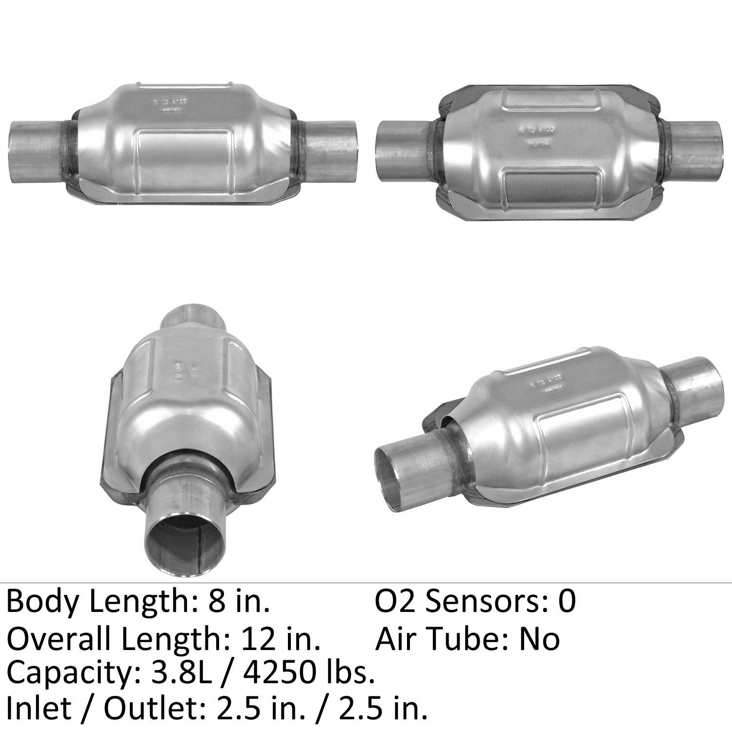 Eastern Catalytic Converter Rear New for Nissan Frontier 2001 809543