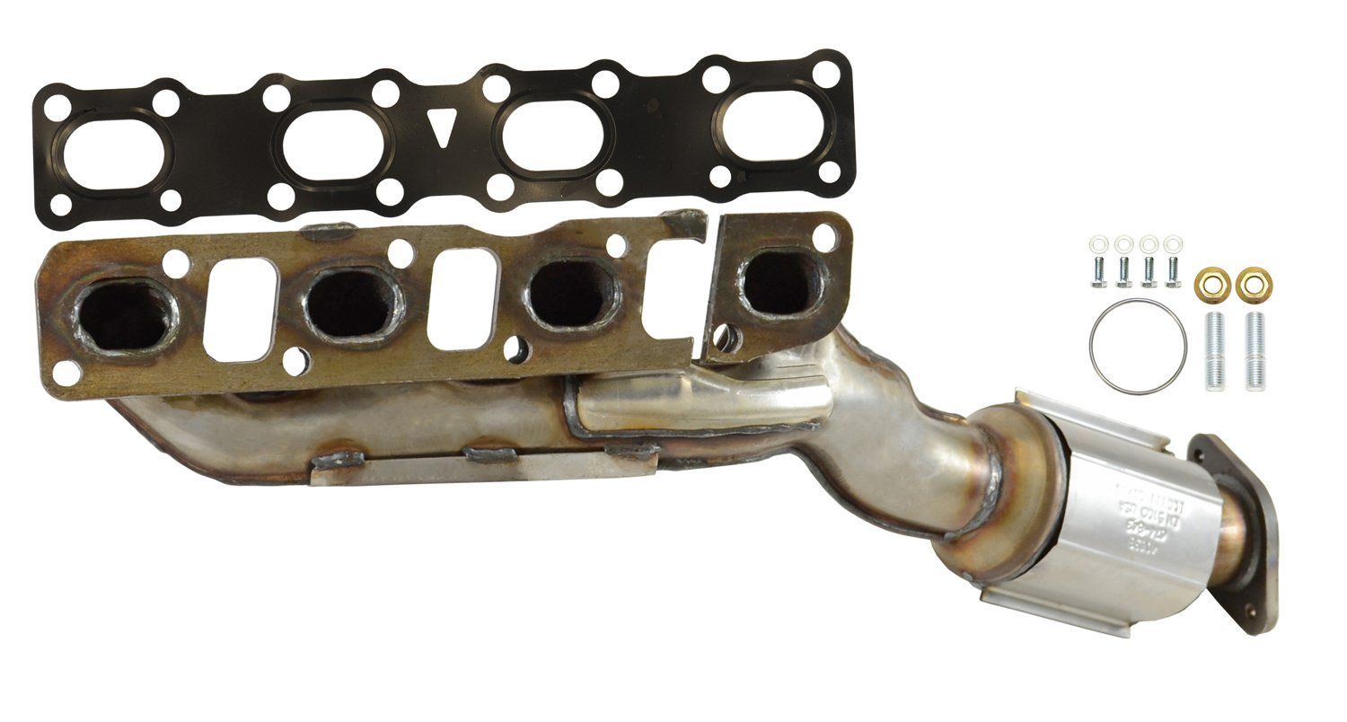 2004 Nissan Titan Exhaust Manifold With Integrated Catalytic Converter    Front Right 8 Cyl 5.6L (Eastern Catalytic 40638) MANIFOLD UNIT Legal Note:  Not For ...