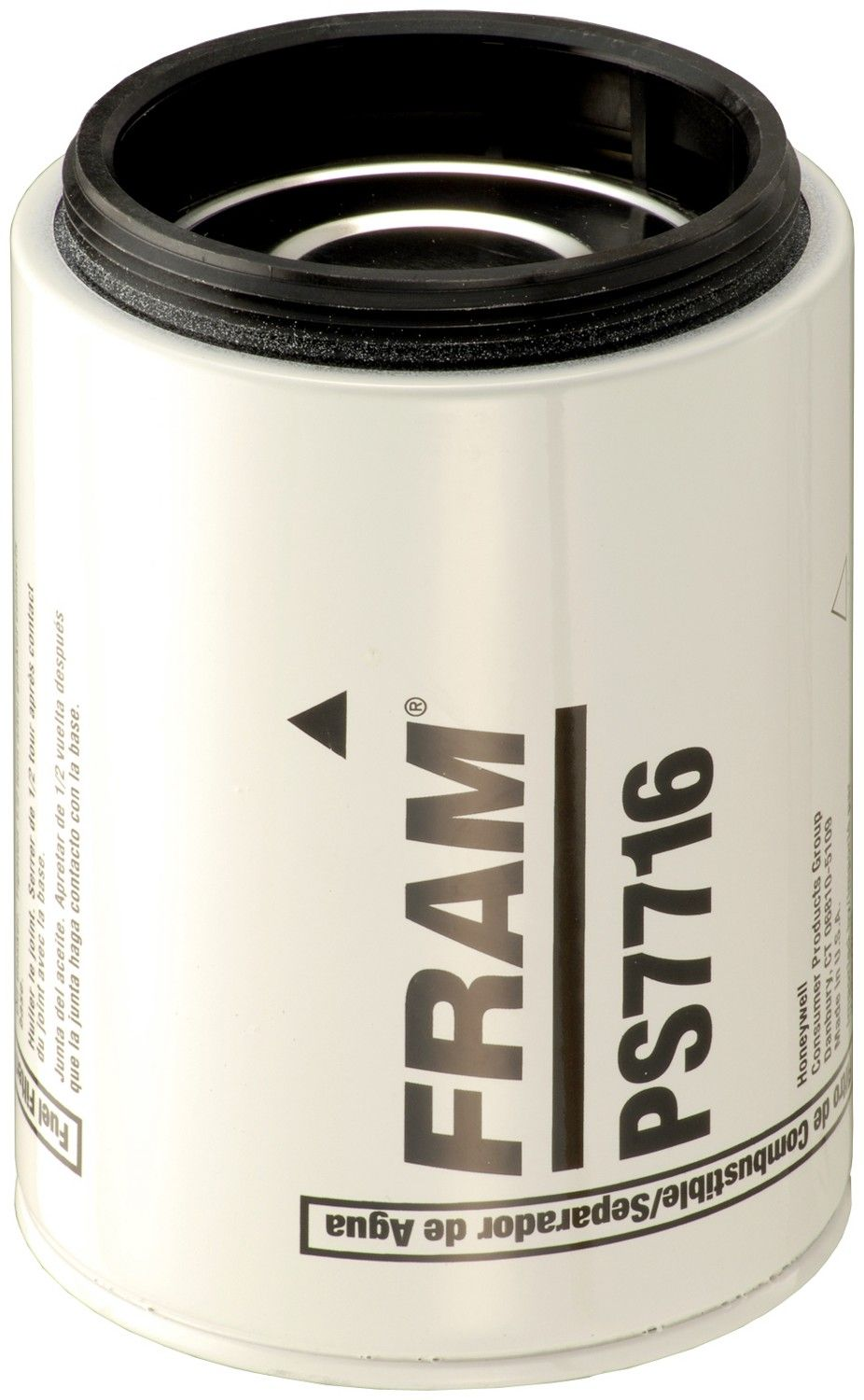 2003 hino fd2320 fuel filter (fram ps7716) at tank hd fuel water separator  spin-on filter use with sediment bowl, not included