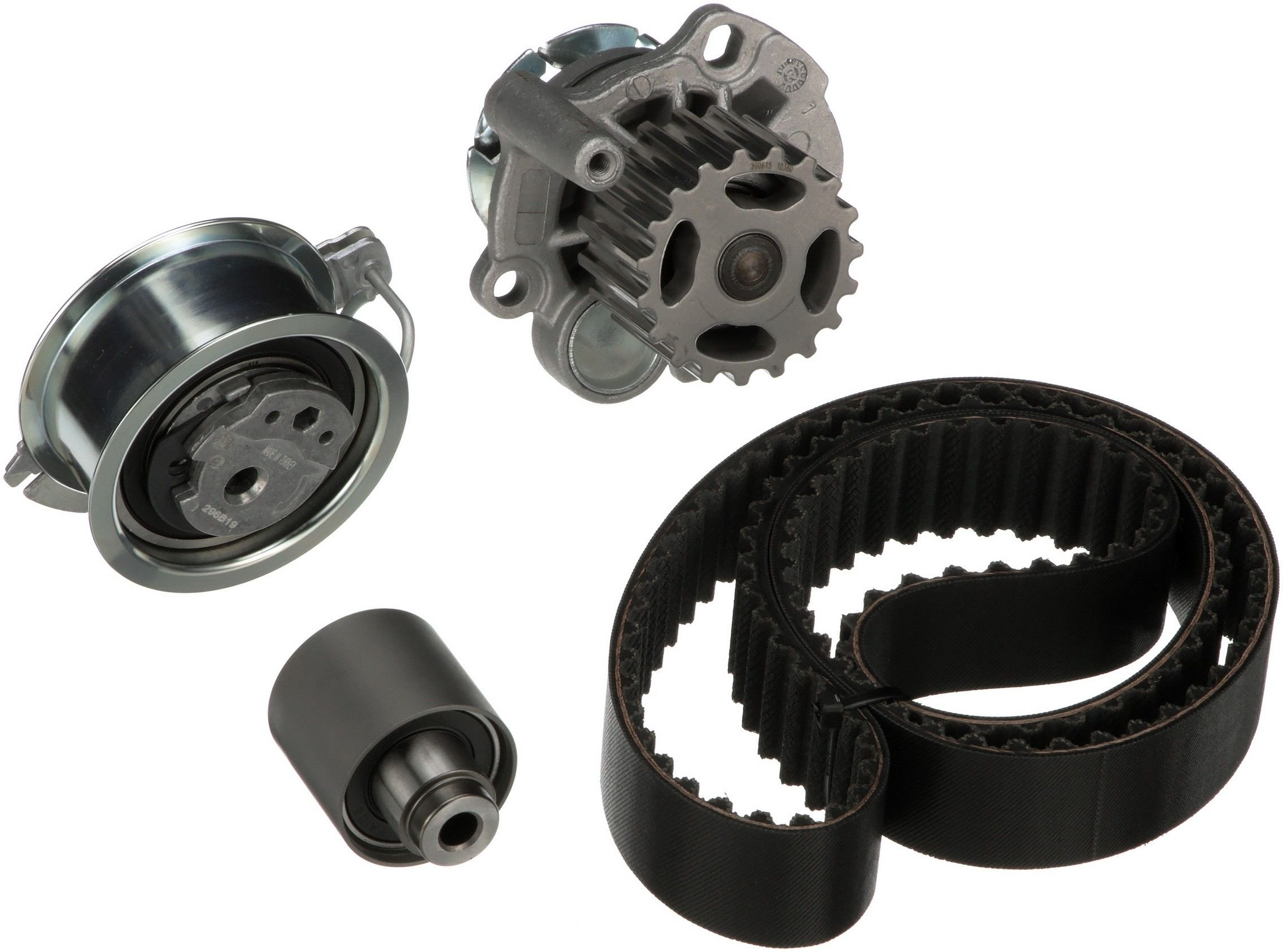 Volkswagen Jetta Engine Timing Belt Kit With Water Pump Replacement Dayco Idler 2005 4 Cyl 19l Gates Tckwp333m W Metal Impeller Interference Application