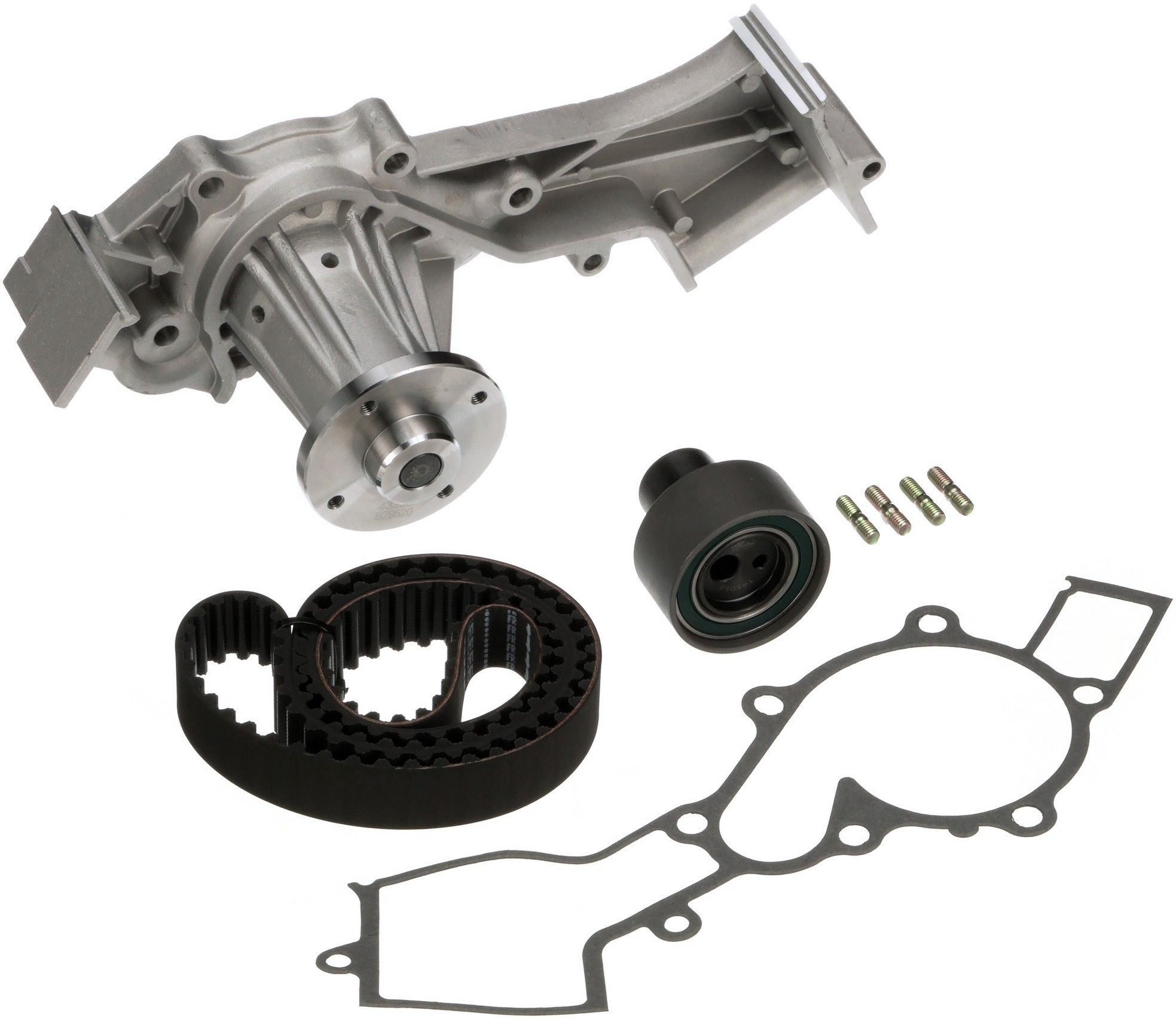 Nissan Frontier Engine Timing Belt Kit With Water Pump Replacement 2004 6 Cyl 33l Gates Tckwp249 Interference Application