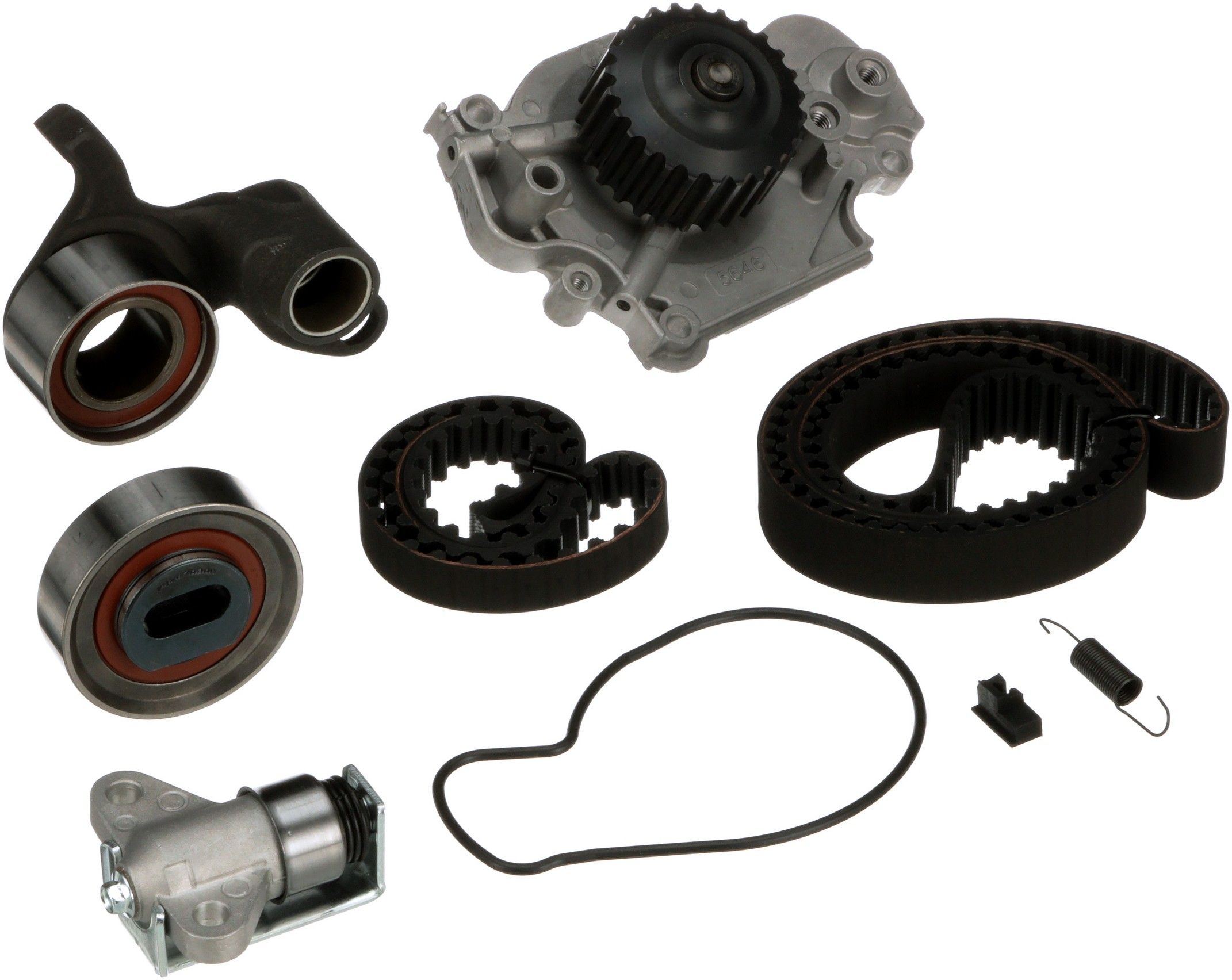 Honda Prelude Engine Timing Belt Kit With Water Pump Replacement 1992 Balancer 2001 4 Cyl 22l Gates Tckwp226a Interference Application