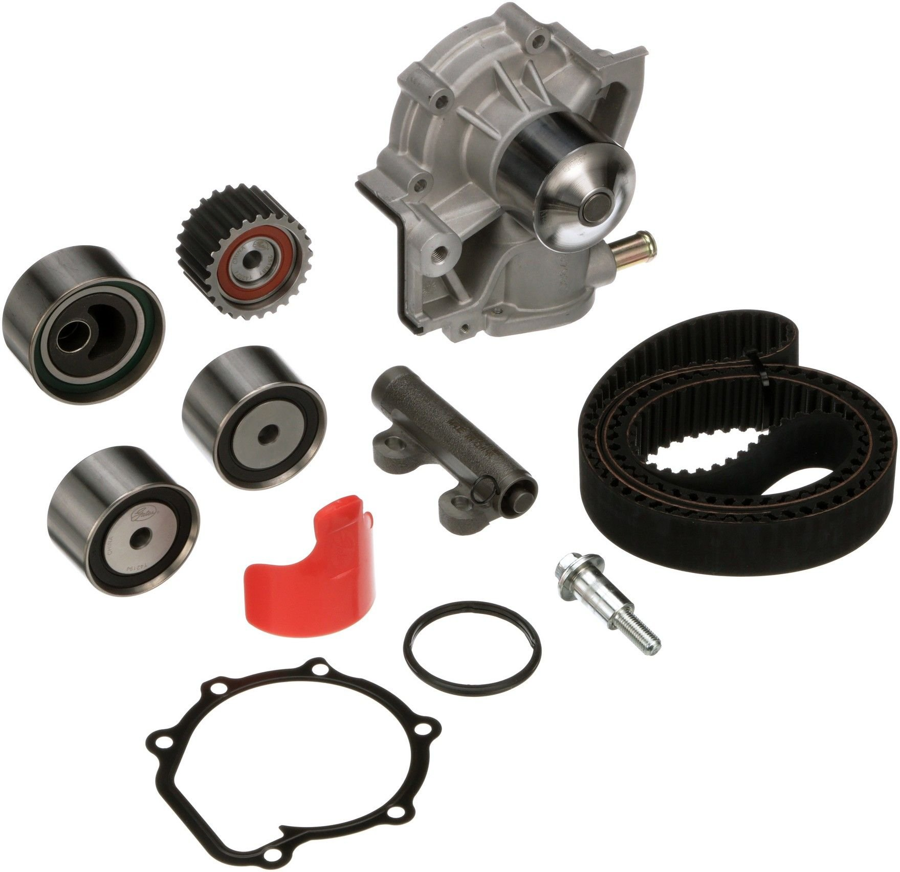 Subaru Legacy Engine Timing Belt Kit With Water Pump Replacement B4 Diagram 1996 4 Cyl 22l Gates Tckwp254
