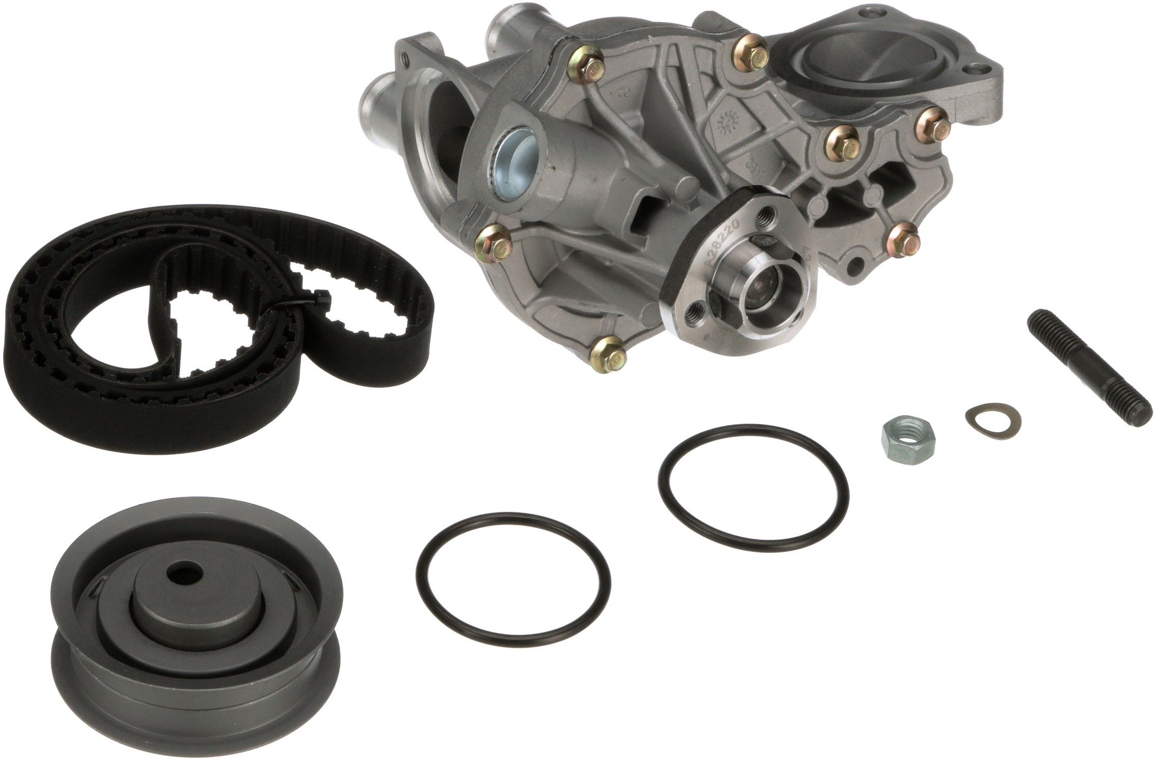 Volkswagen Jetta Engine Timing Belt Kit With Water Pump Replacement Dayco Idler 1996 4 Cyl 20l Gates Tckwp262 Interference Application