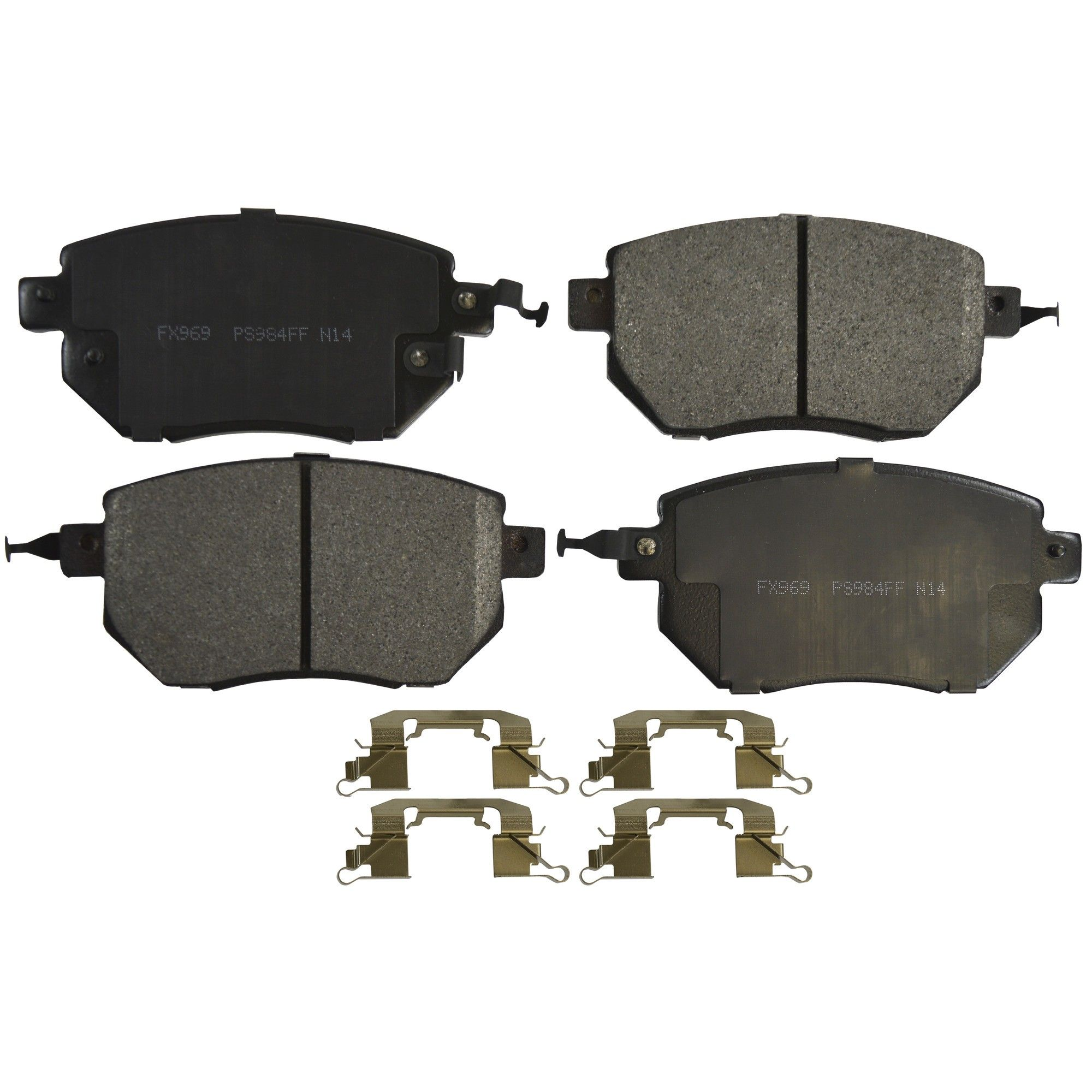 2005 Nissan Altima Disc Brake Pad   Front (Monroe FX969) Hardware Kit  Included .
