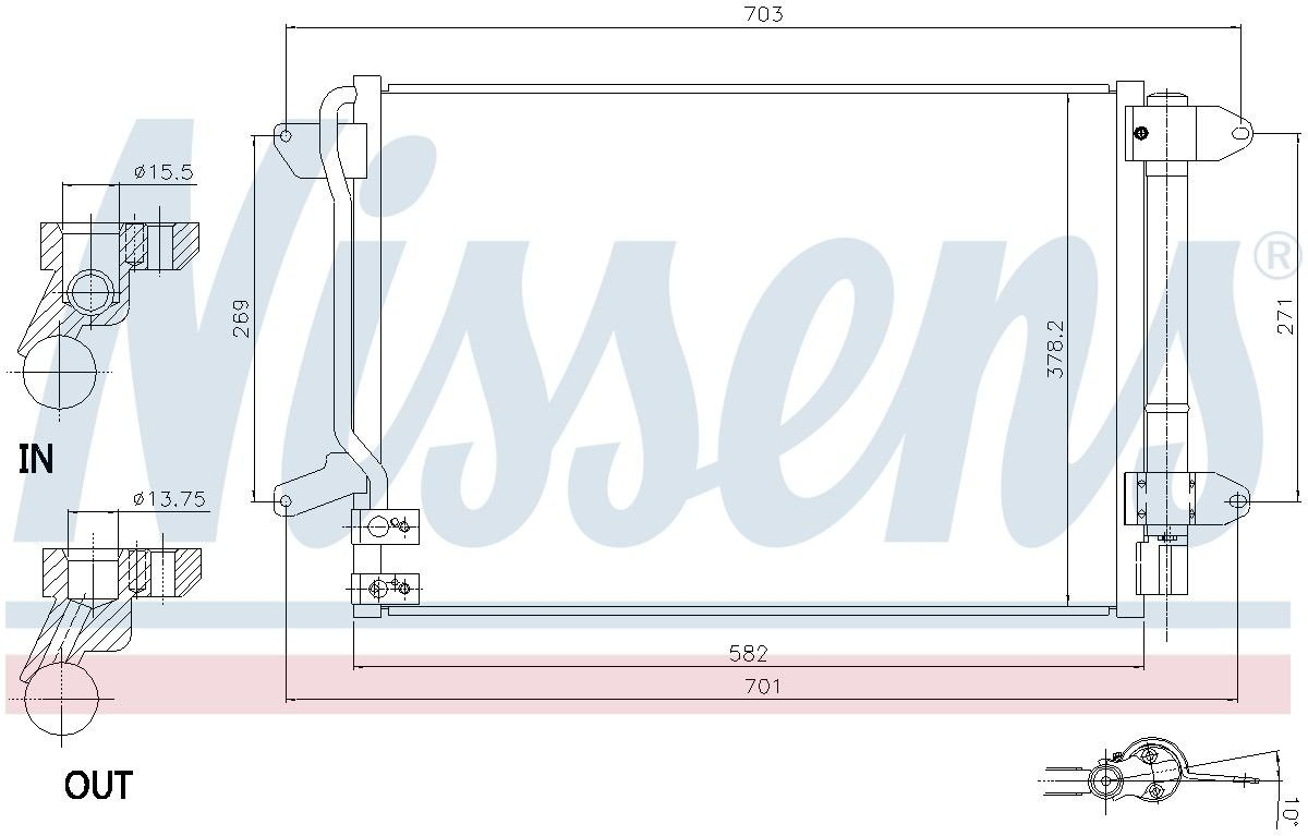 A//C Condenser APDI 7013889