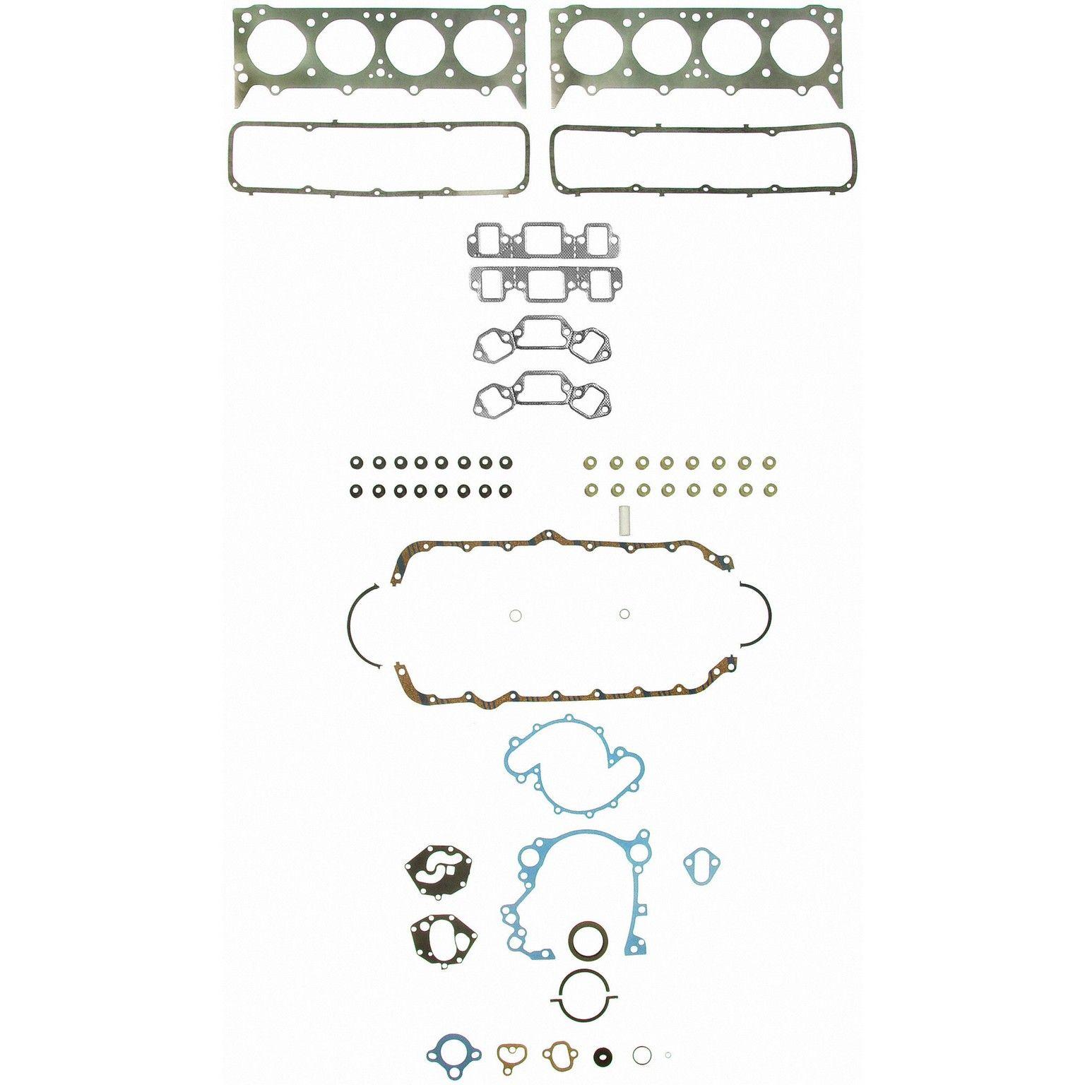 Jeep Cj7 Engine Gasket Set Replacement Felpro Sealed Power Victor Diagram 1976 8 Cyl 50l 260 1010 Int Manifold Gskt Not Incl Premium Valve Stem Seals