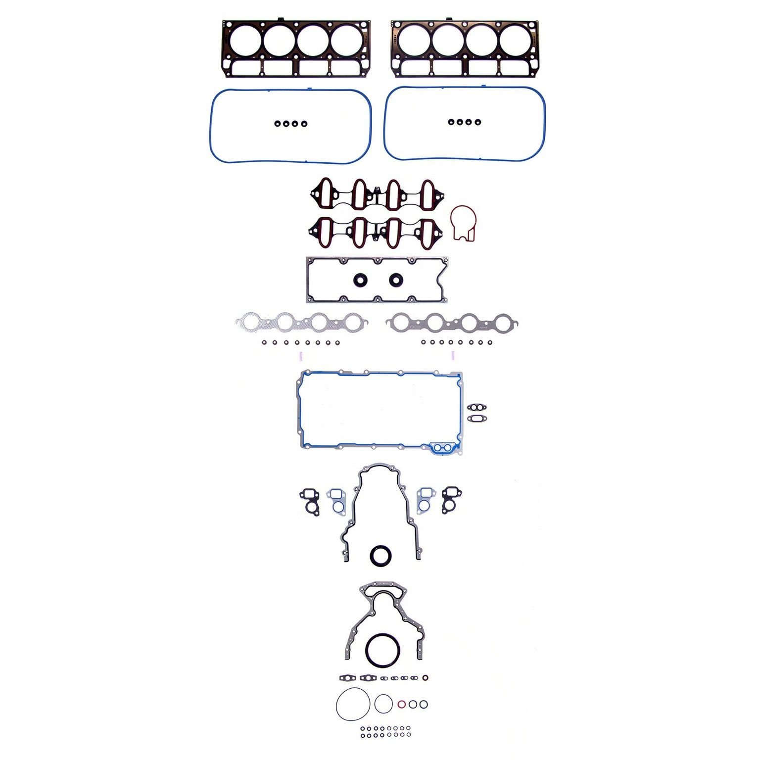 Gmc Yukon Xl 2500 Engine Gasket Set Replacement Sealed Power Go 2001 Denali Diagram 8 Cyl 60l 260 1954 1st Design Positive Type Valve Stem Seals Head Bolts Not Incl
