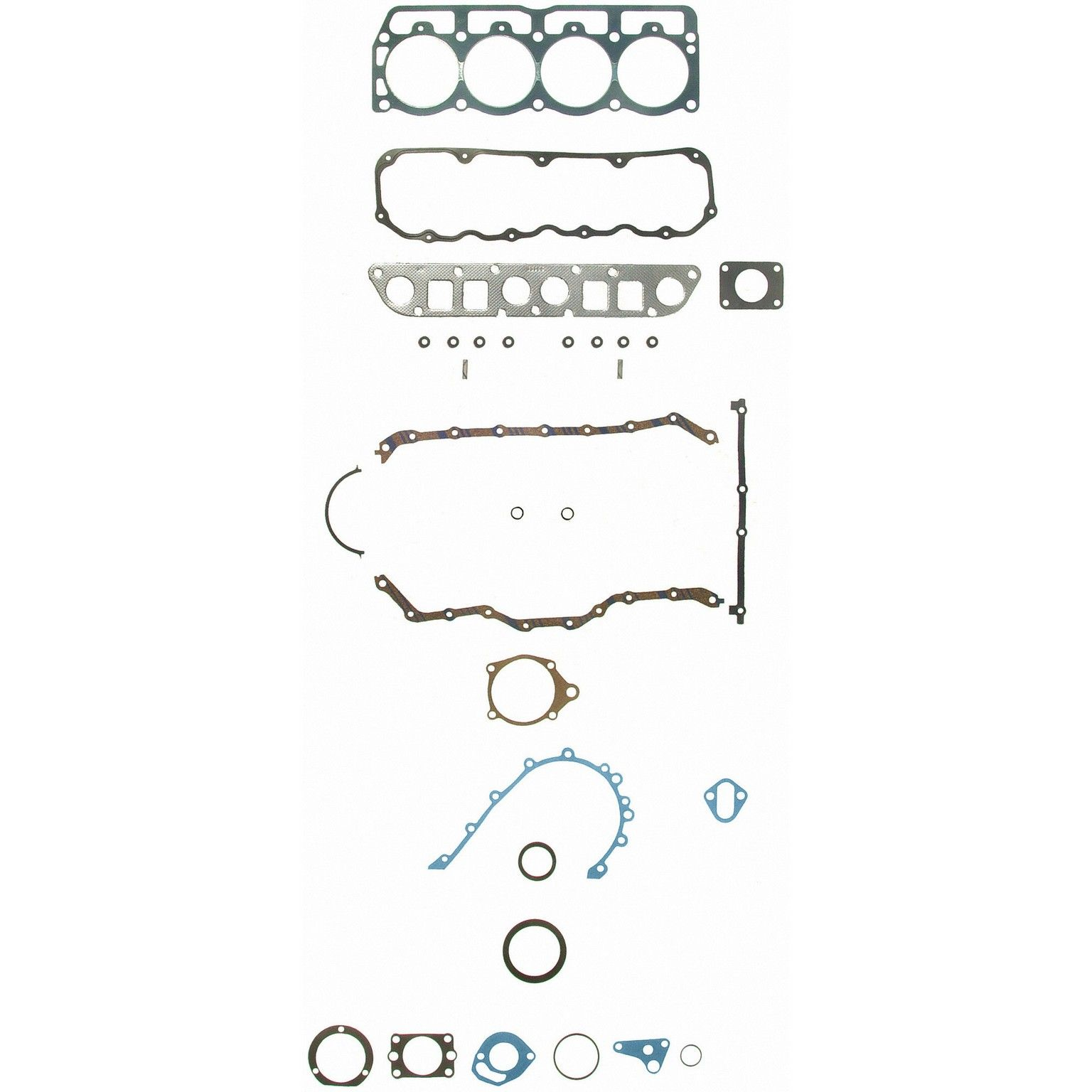 Jeep Cj7 Engine Gasket Set Replacement Felpro Sealed Power Victor Diagram 1986 4 Cyl 25l 260 1192 Permadry Molded Rubber Valve Cover Gskt Incl Premium Stem Seals